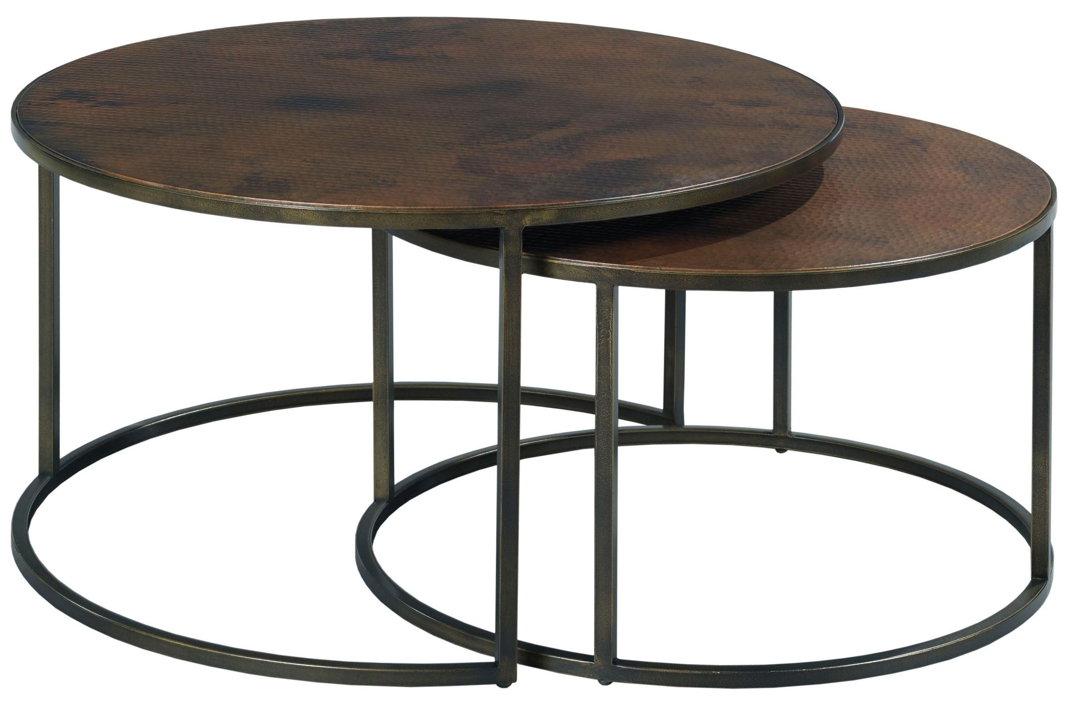 Sanford Acid Washed Copper Top Round Cocktail Table
