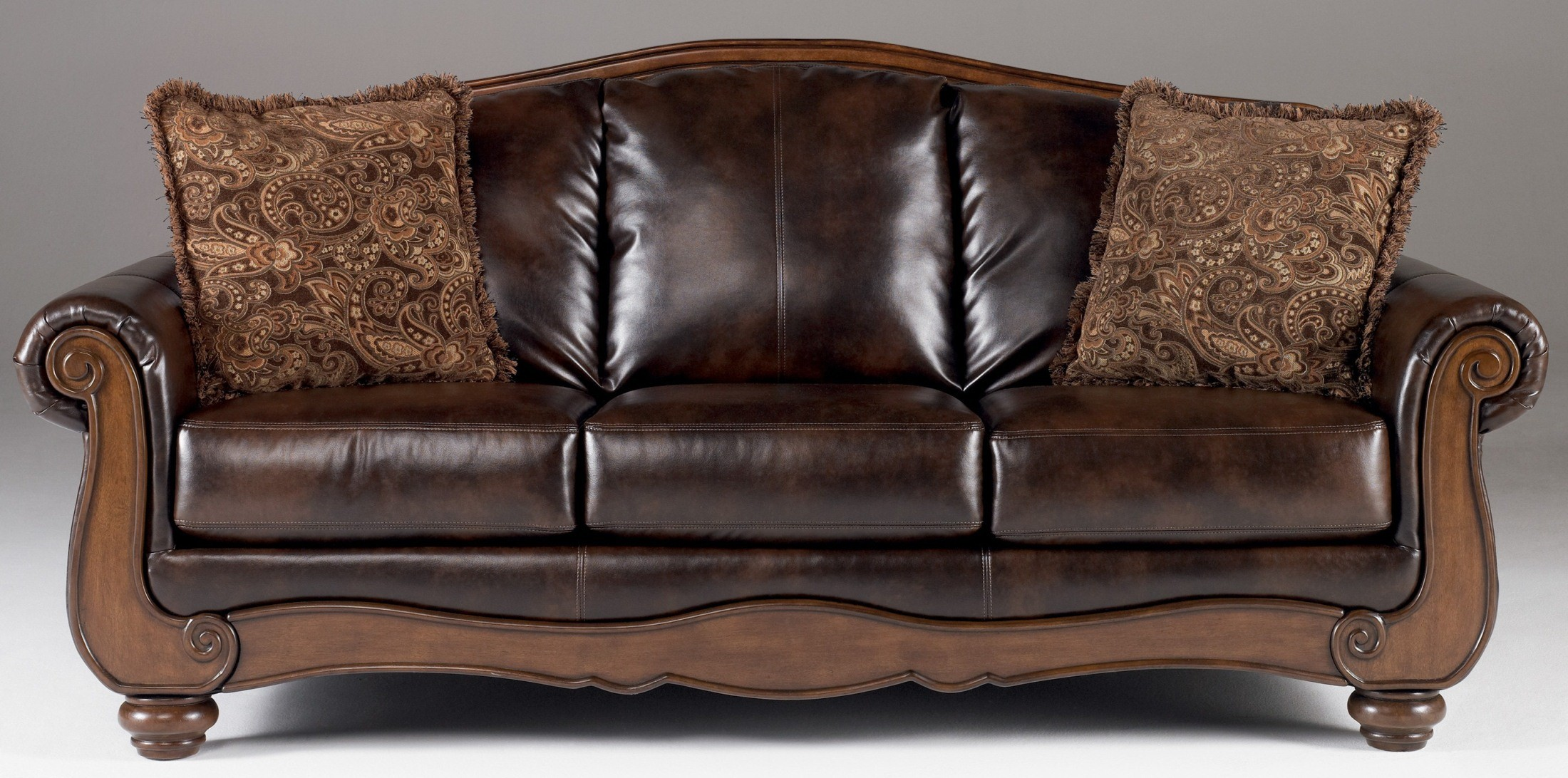 Barcelona Antique Sofa From Ashley 5530038 Coleman Furniture