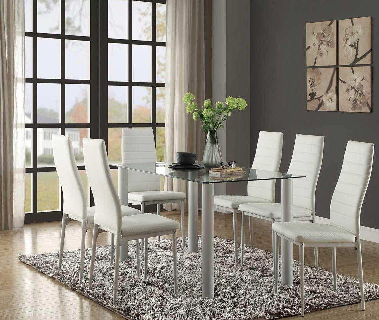 Florian White Dining Room Set From Homelegance