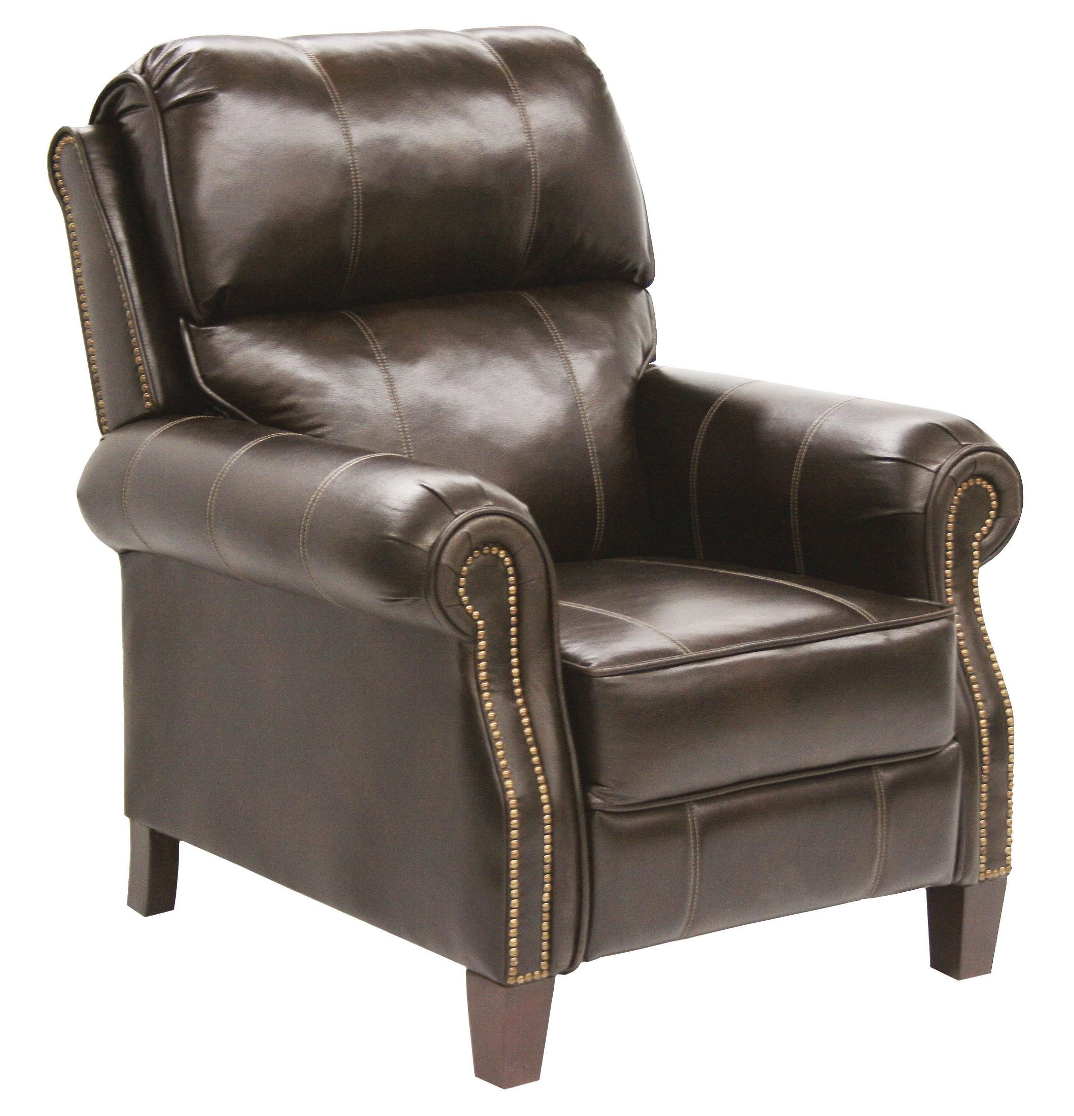 Frazier java bonded leather reclining chair from catnapper for Catnapper cloud nine chaise recliner
