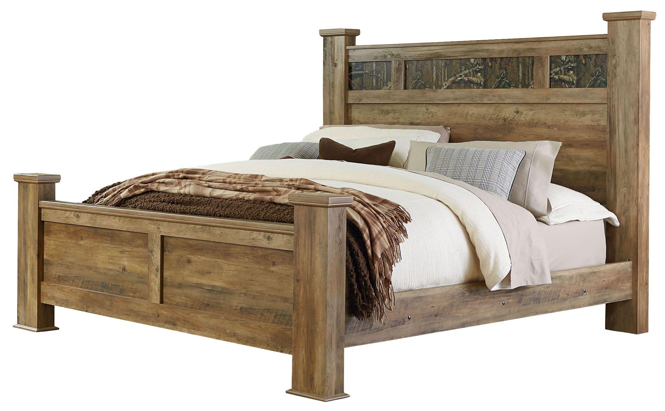 Habitat Rustic Buckskin Queen Poster Bed From Standard
