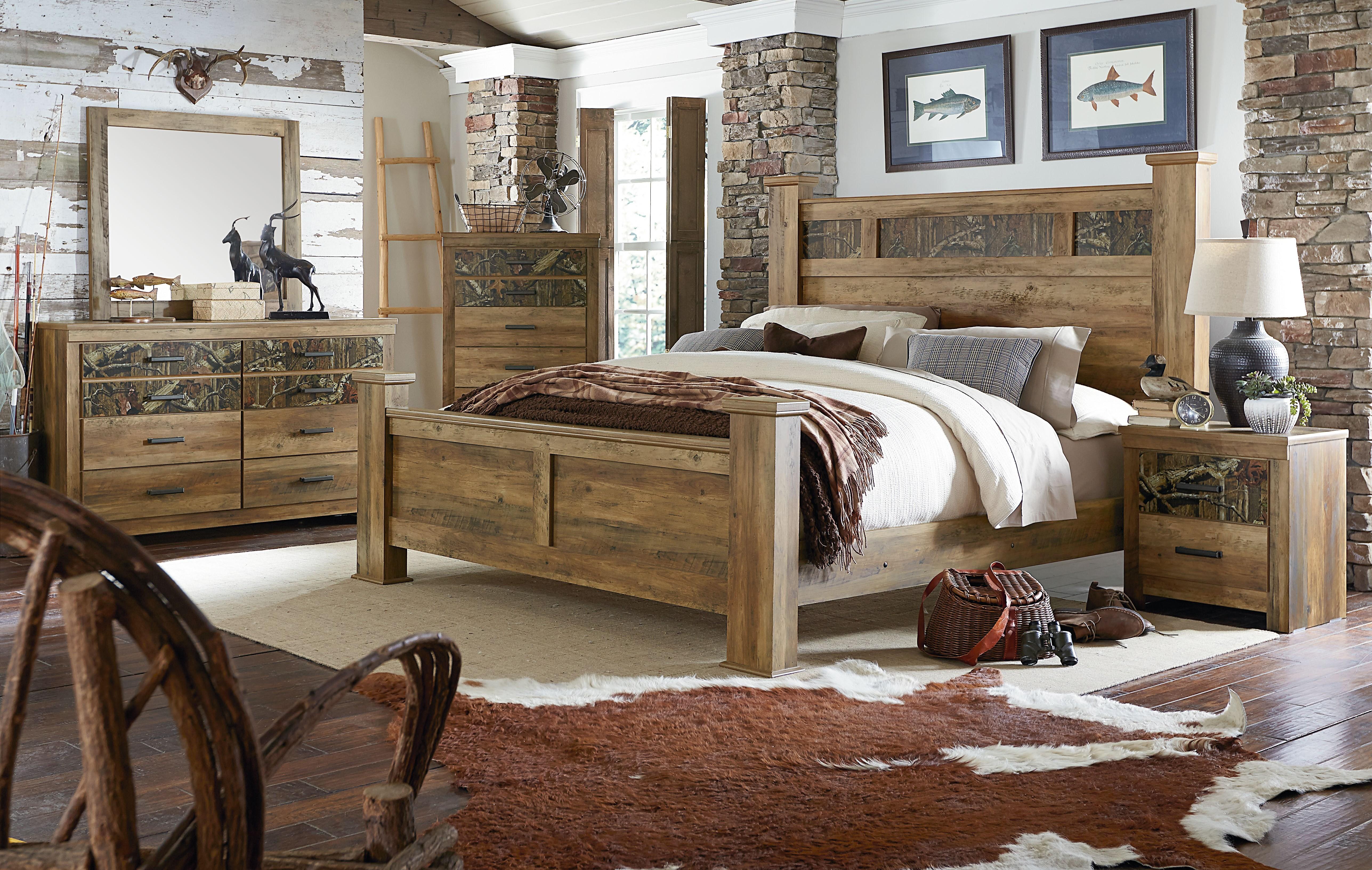Habitat Rustic Buckskin Poster Bedroom Set from Standard Furniture ...