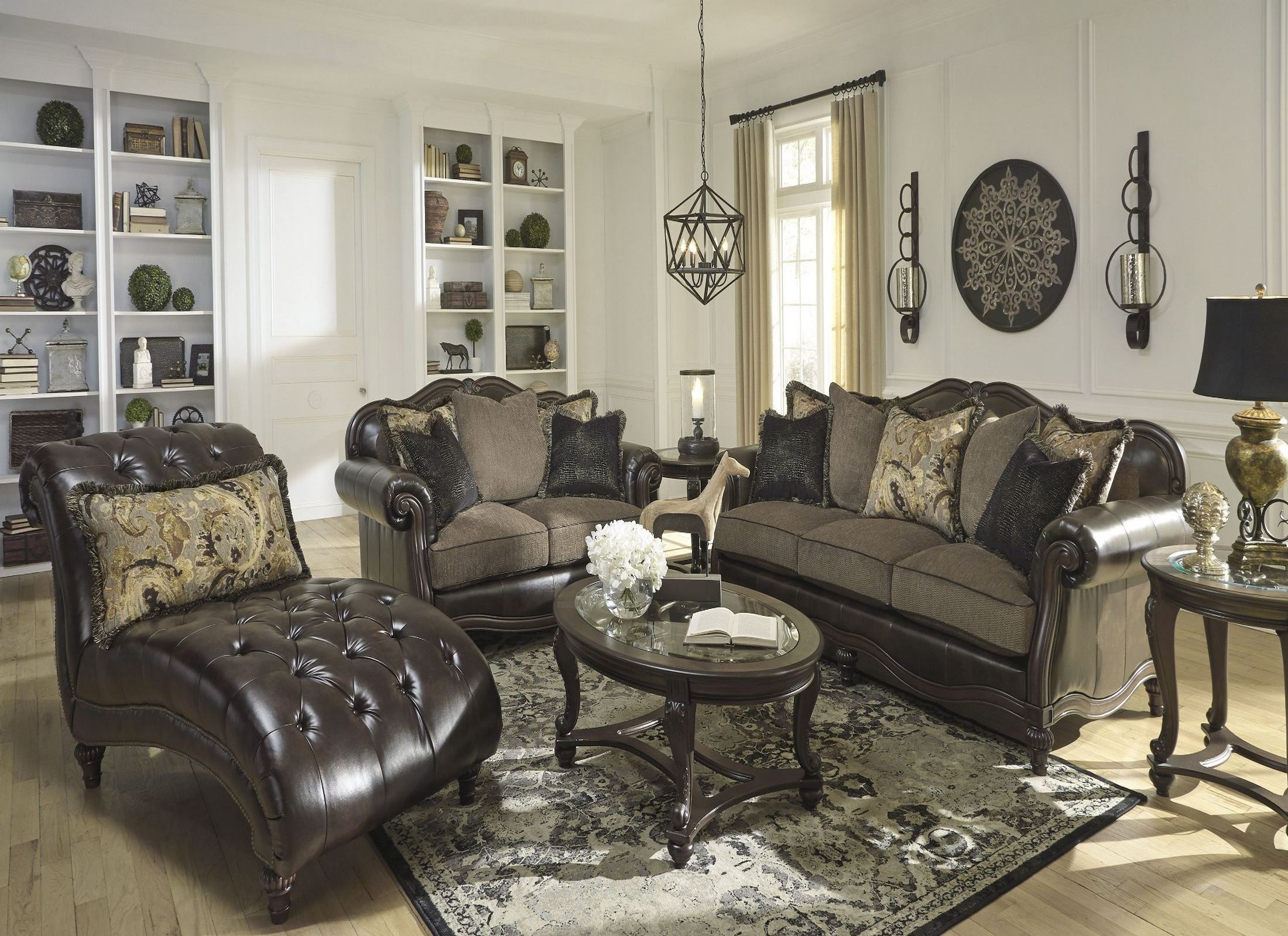Winnsboro durablend vintage living room set from ashley for Durable living room furniture