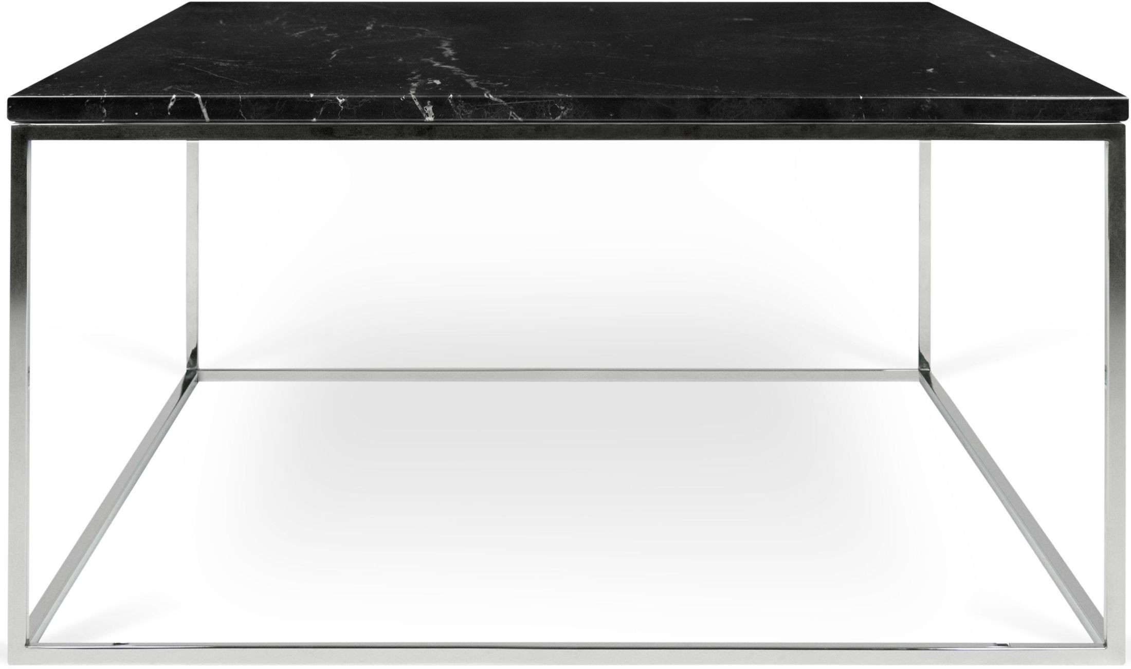 Gleam 30 black marble and chrome coffee table from tema home coleman furniture Black and chrome coffee table