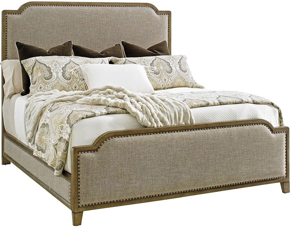 cypress point stone harbour king upholstered panel bed from tommy bahama coleman furniture. Black Bedroom Furniture Sets. Home Design Ideas