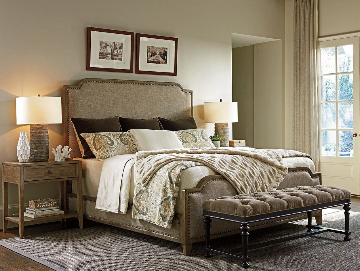Cypress Point Stone Harbour Upholstered Panel Bedroom Set From Tommy Bahama Coleman Furniture