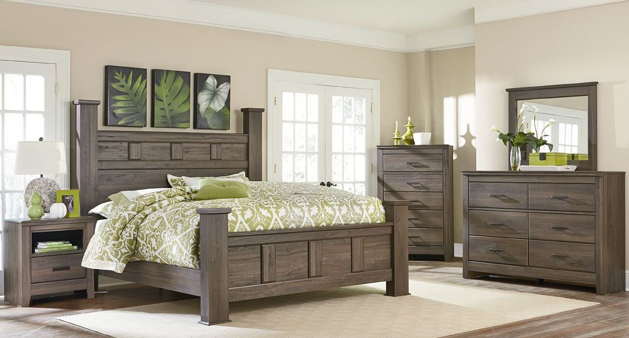 Hayward Dark Brown Poster Bedroom Set From Standard Furniture Coleman Furniture