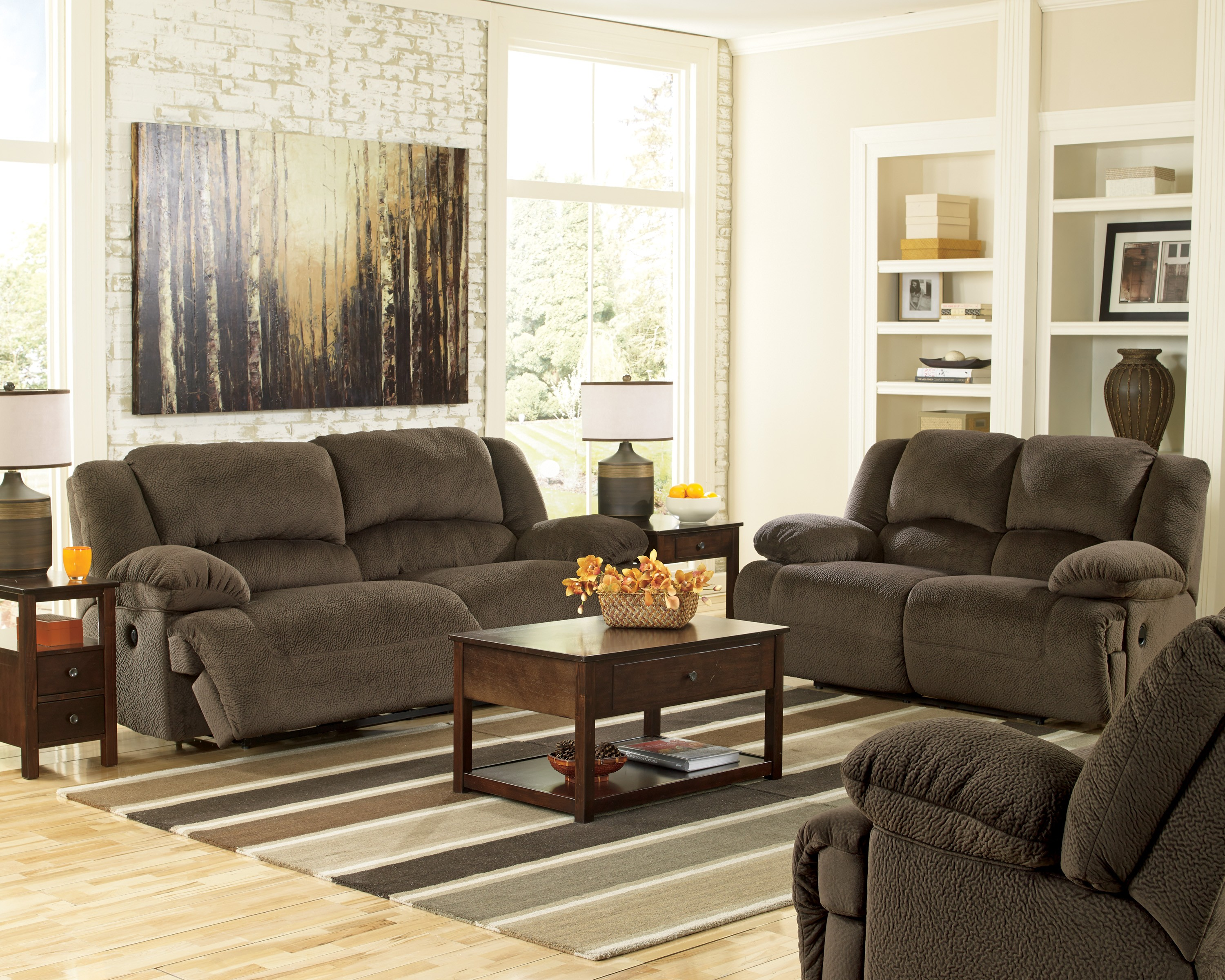 Toletta Chocolate Zero Wall Power Wide Recliner from Ashley