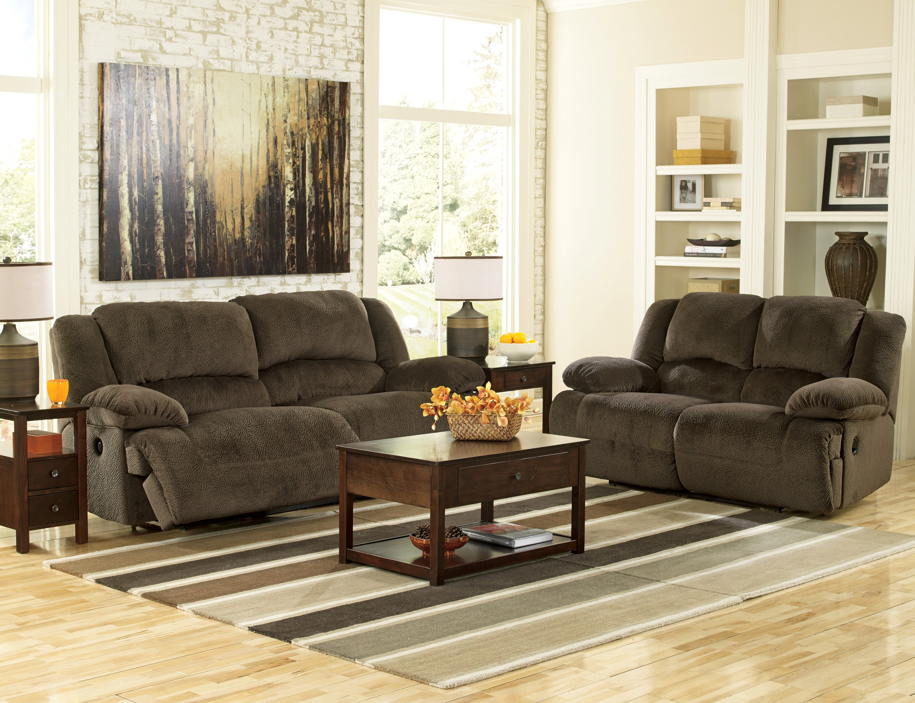 335838. Toletta Chocolate Living Room Set from Ashley  5670181 86
