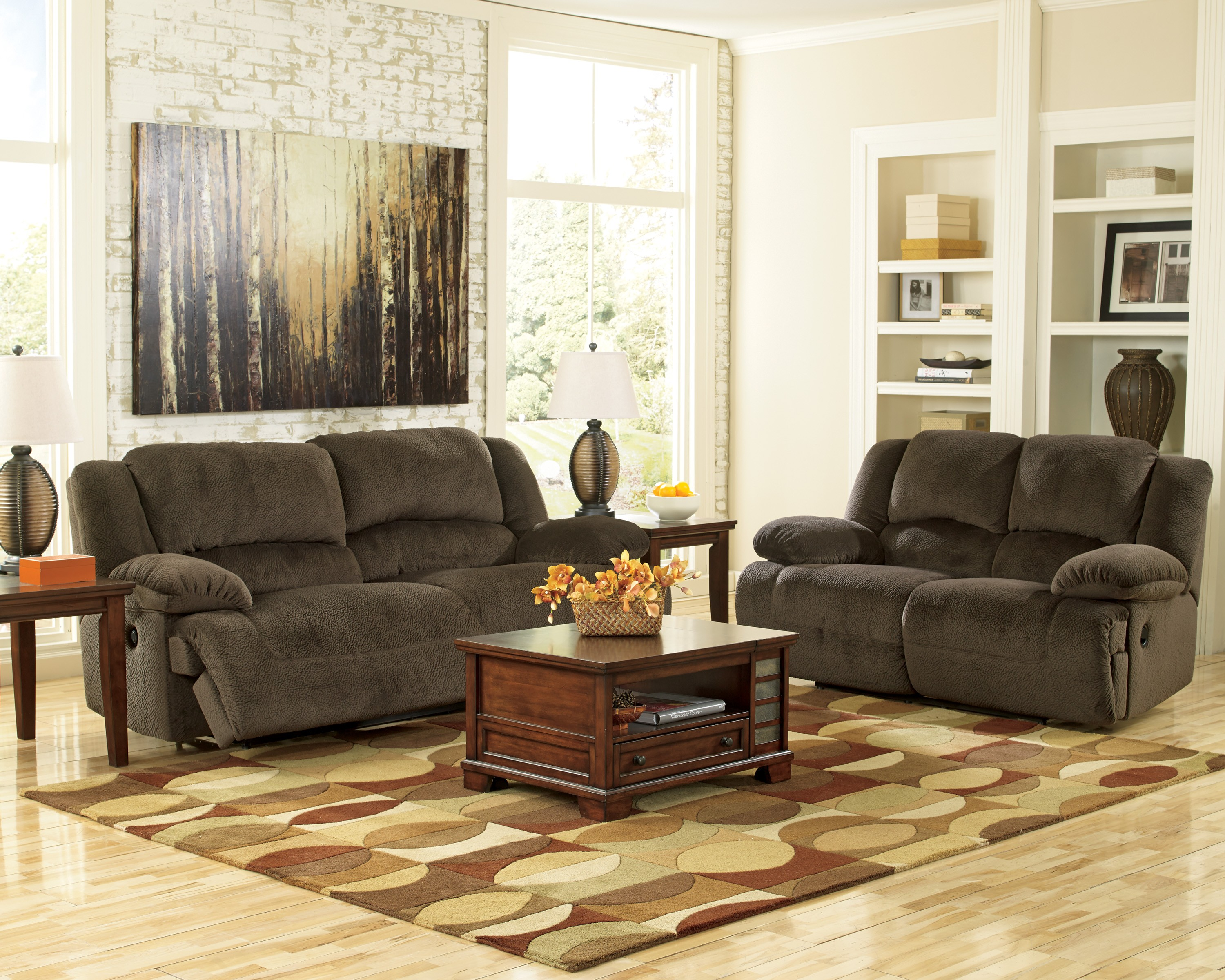 Toletta Chocolate Living Room Set from Ashley (5670181-86) | Coleman ...