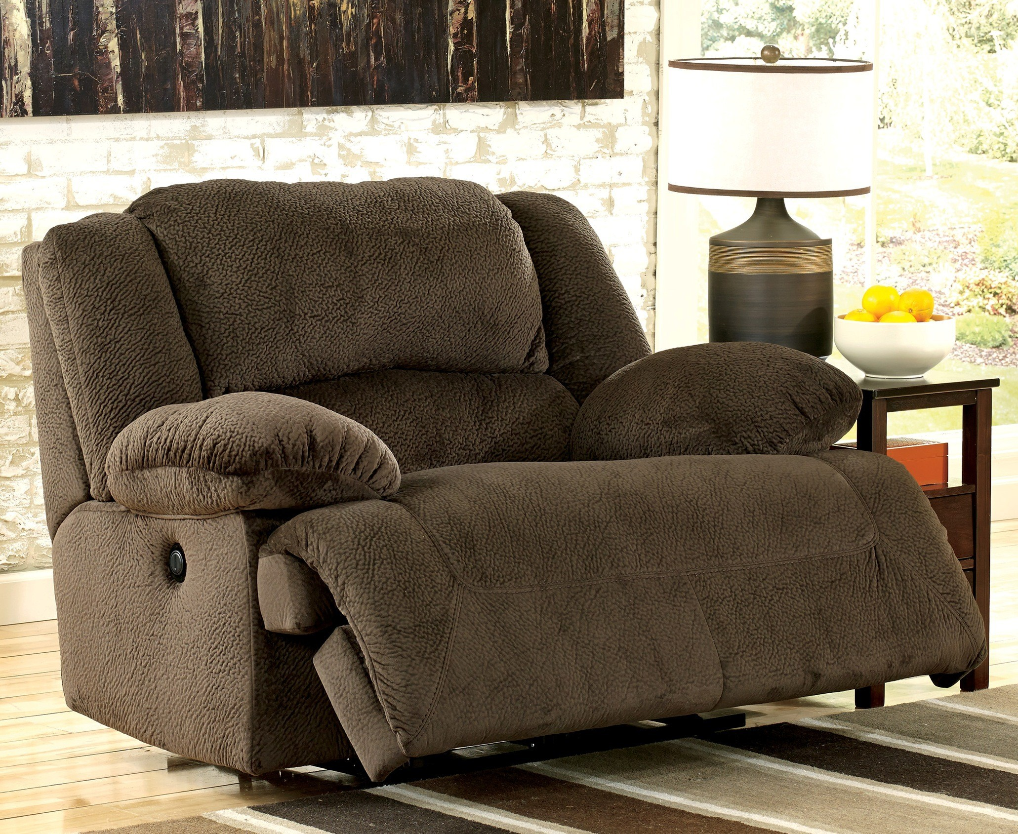 Toletta Chocolate Zero Wall Power Wide Recliner From