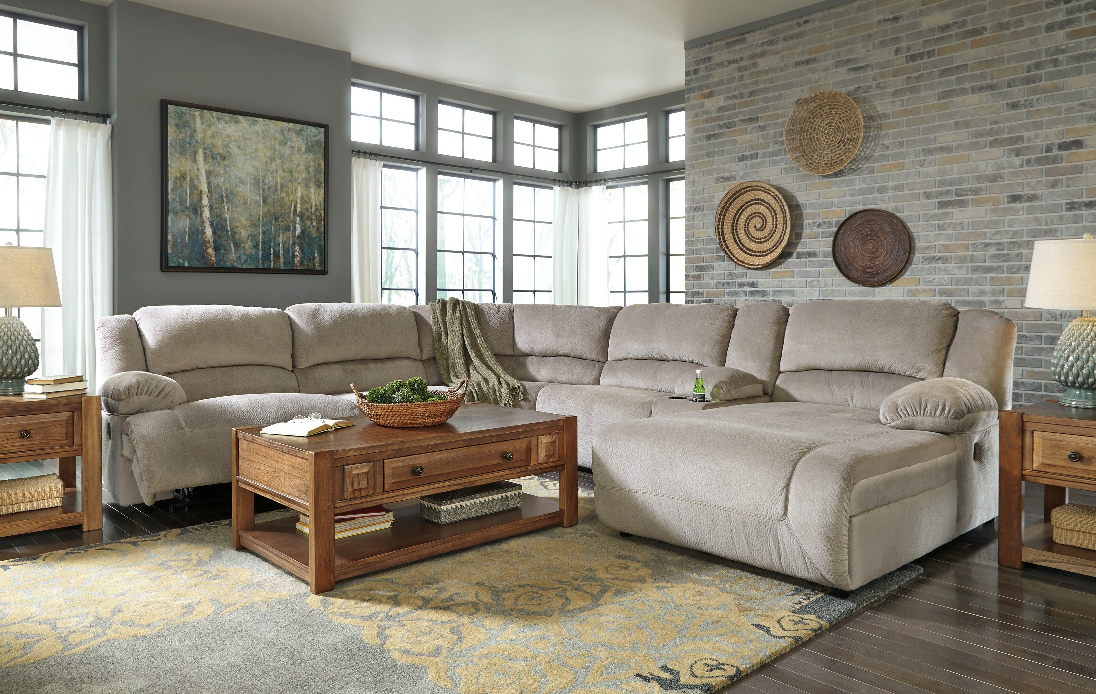Toletta Granite Raf Reclining Sectional From Ashley