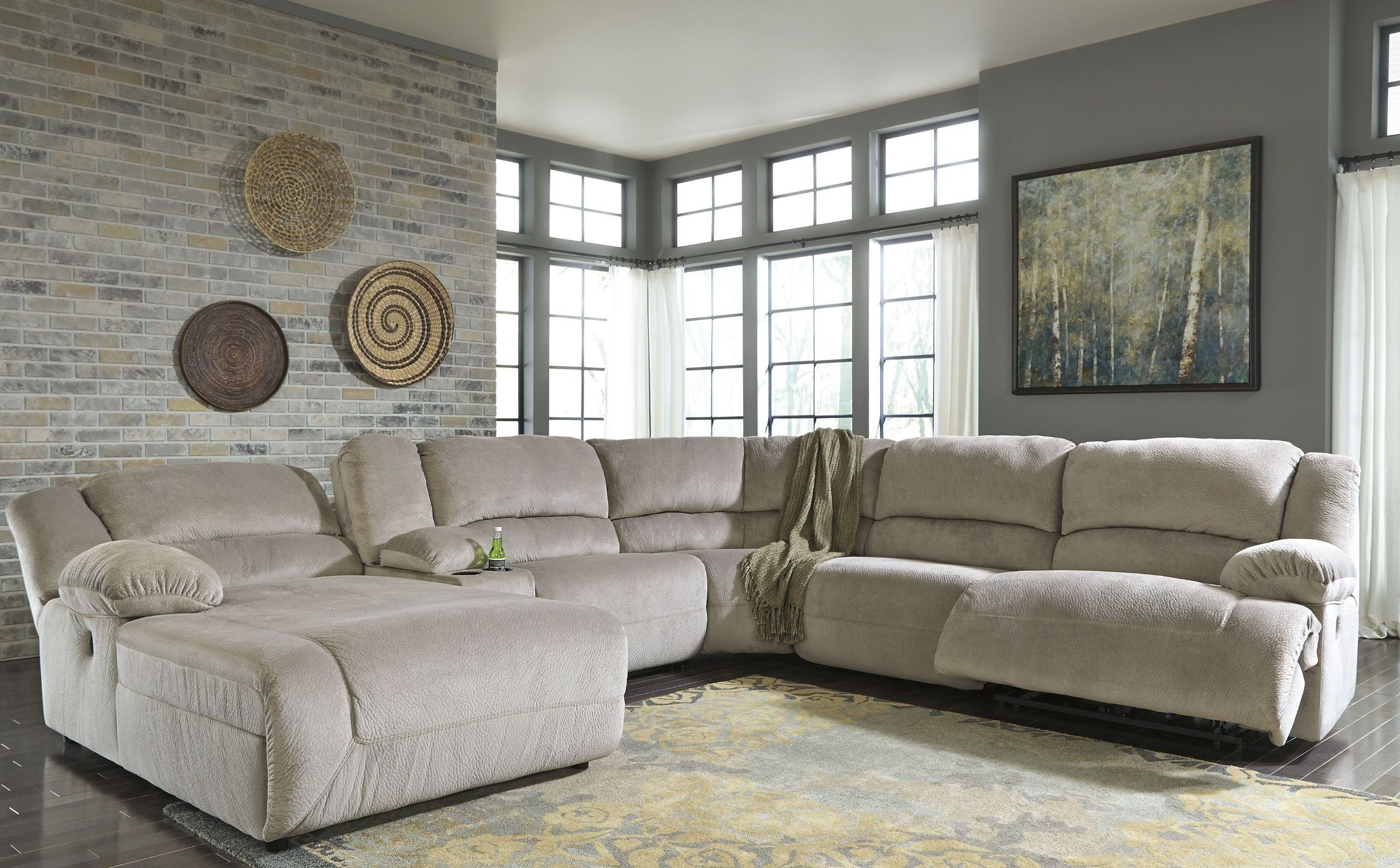 Toletta Granite Laf Reclining Sectional From Ashley
