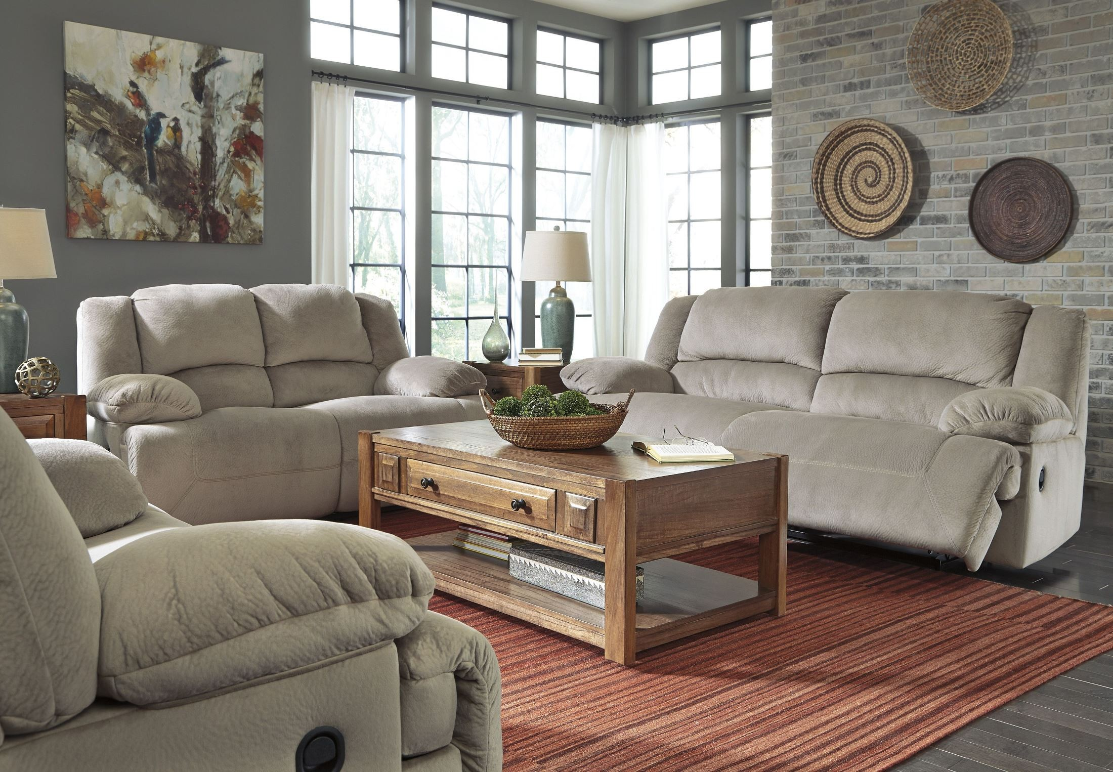 Toletta Granite Reclining Living Room Set From Ashley