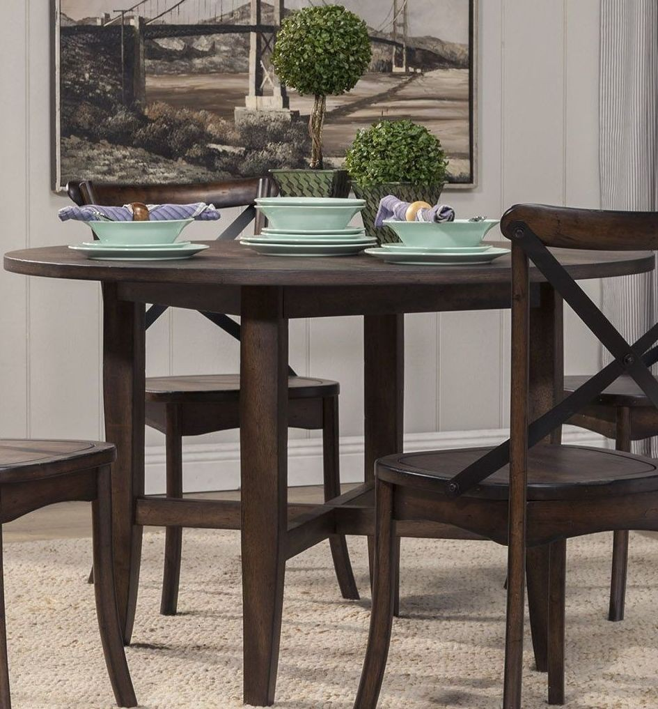 Arendal Oak Counter Height Round Dining Table from Alpine  : 5672 03 rtalpine from colemanfurniture.com size 945 x 1017 jpeg 214kB