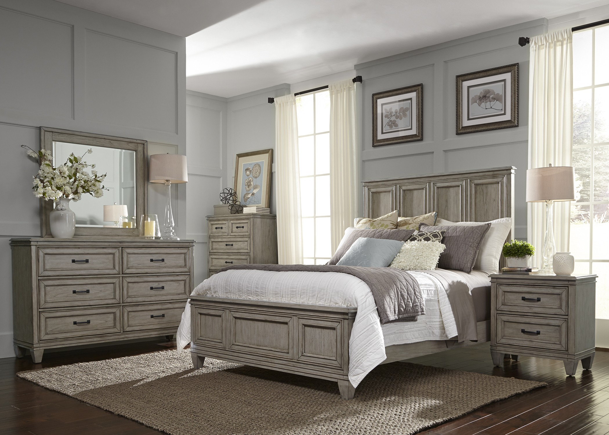 Bedroom Sets For Small Bedrooms: Grayton Grove Driftwood Panel Bedroom Set From Liberty