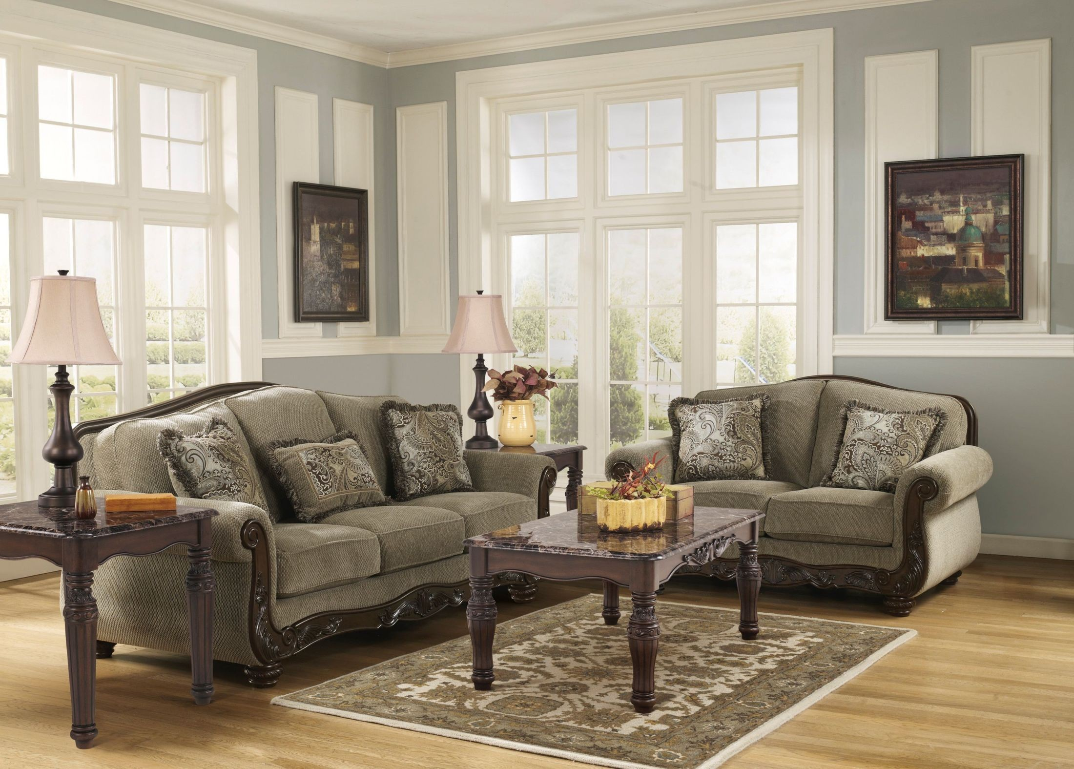martinsburg meadow living room set from ashley 57300 coleman furniture