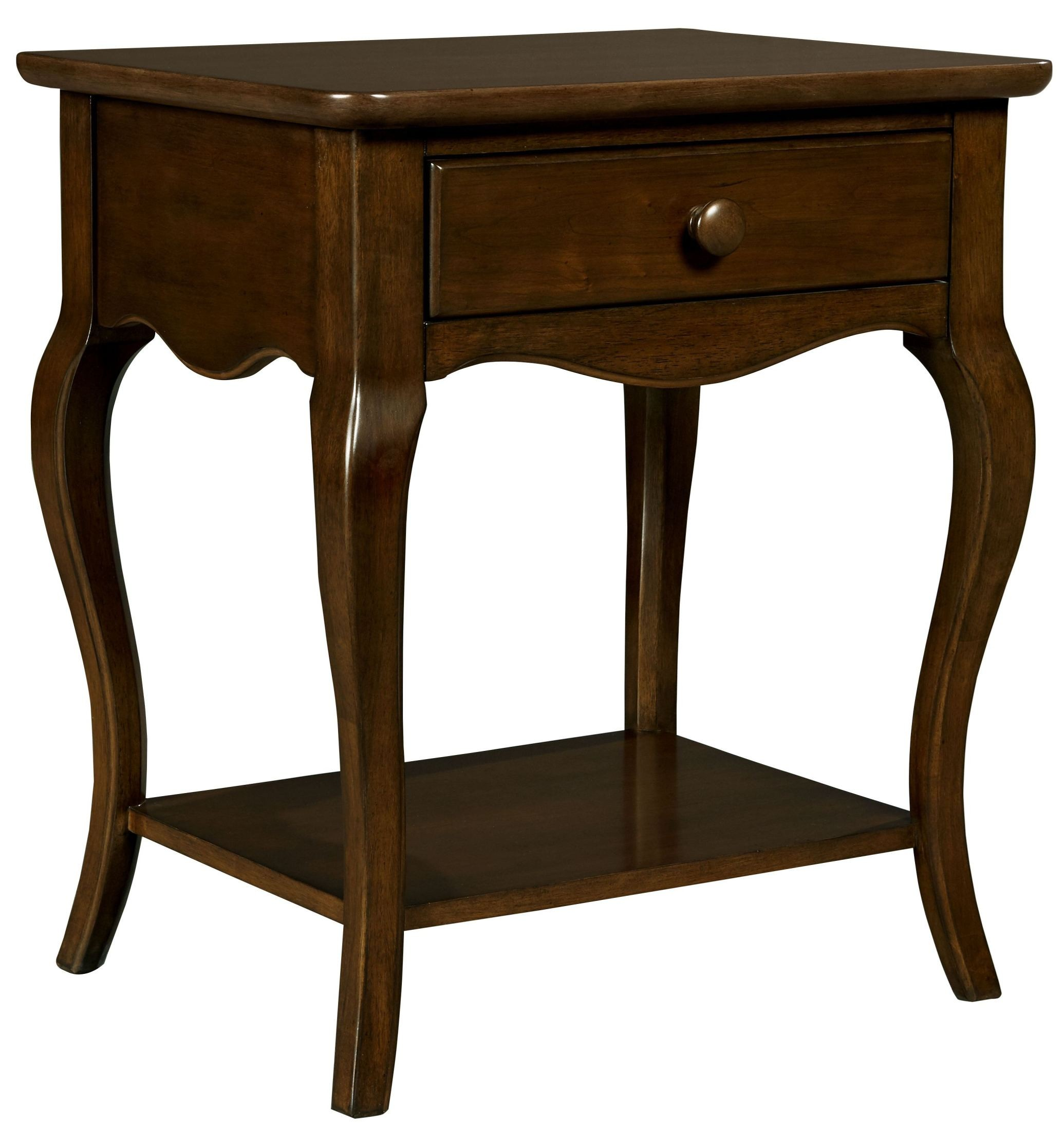 Teaberry Lane Midnight Cherry Bedside Table From Stone And