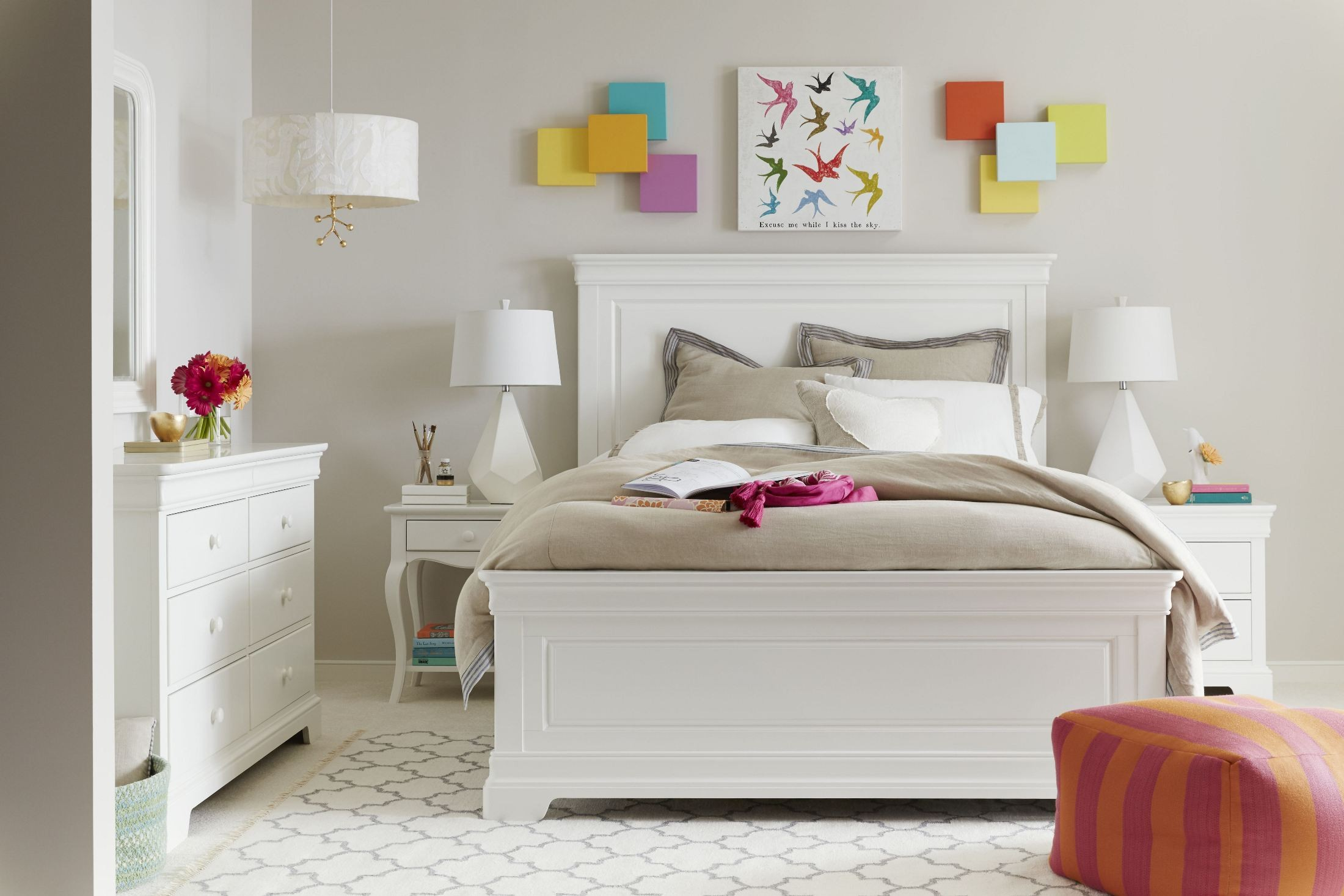 Teaberry Lane Stardust Panel Bedroom Set From Stone And