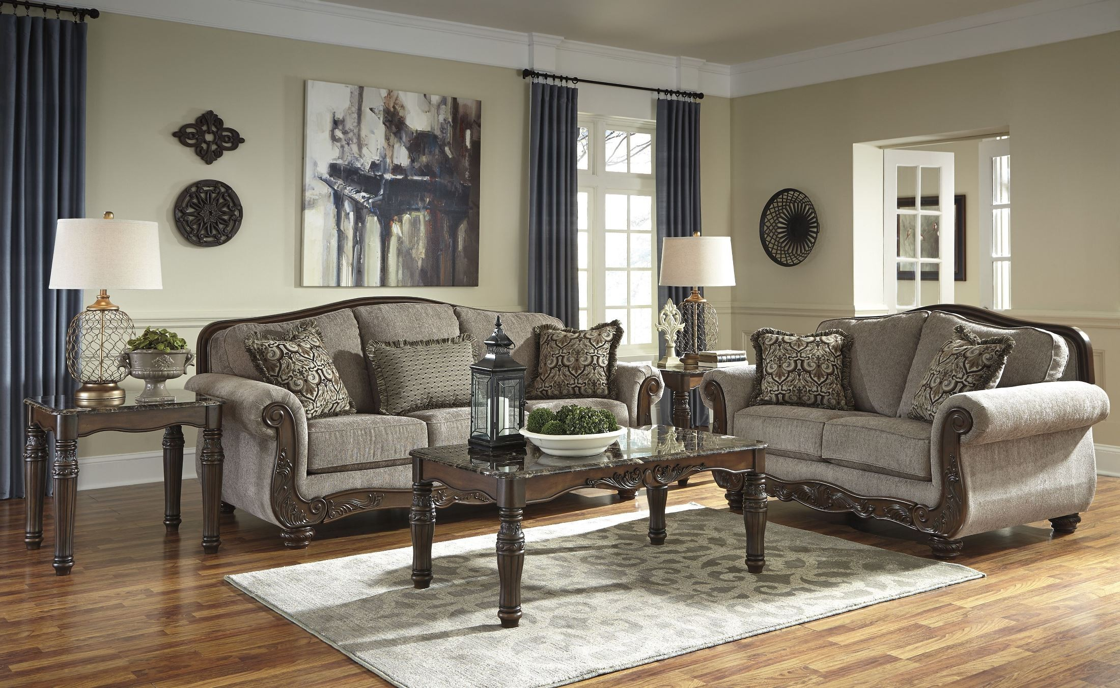 cecilyn cocoa living room set from ashley 5760338 coleman furniture. Black Bedroom Furniture Sets. Home Design Ideas