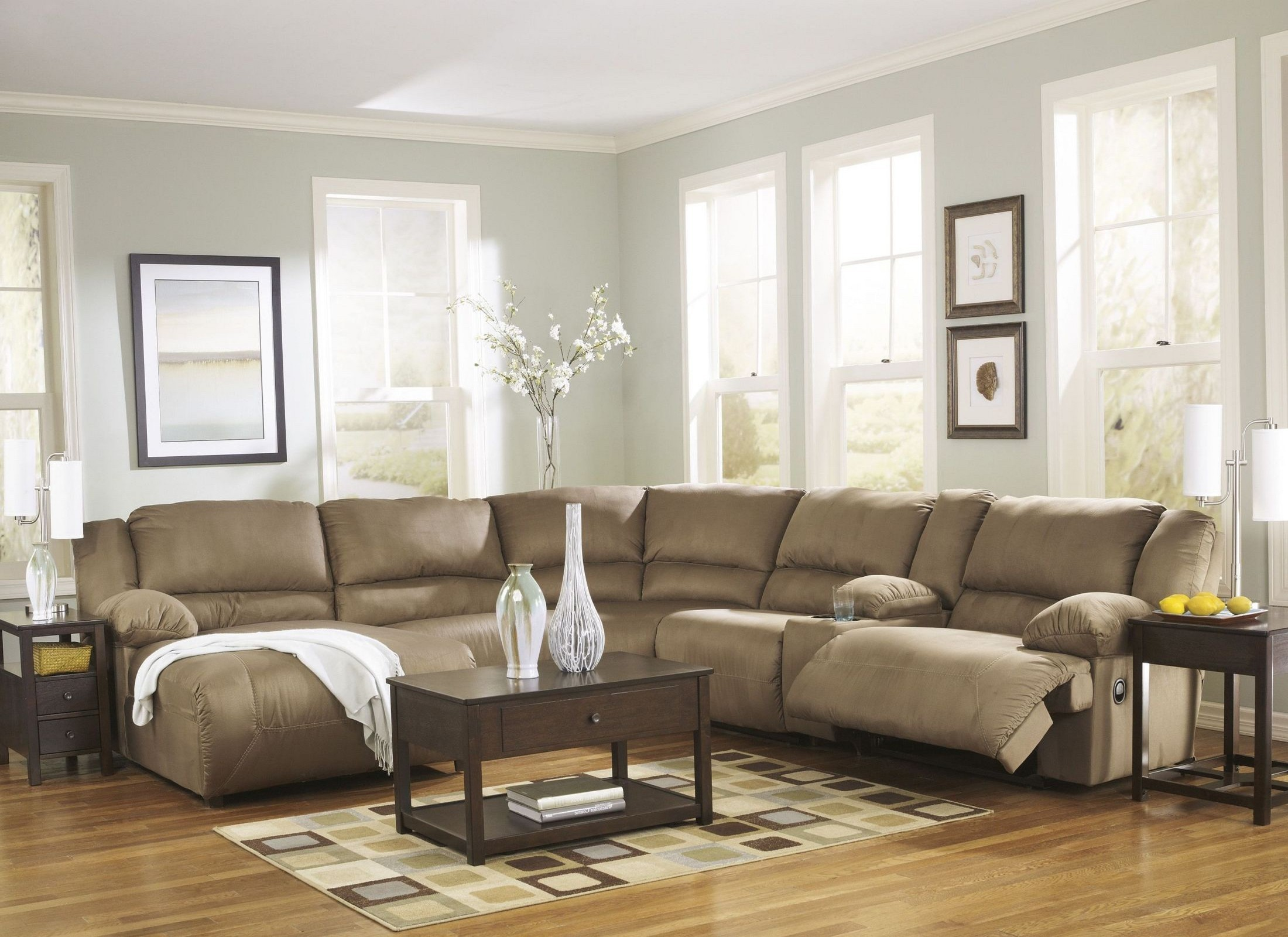 Hogan Mocha Left Chaise Reclining Sectional from Ashley