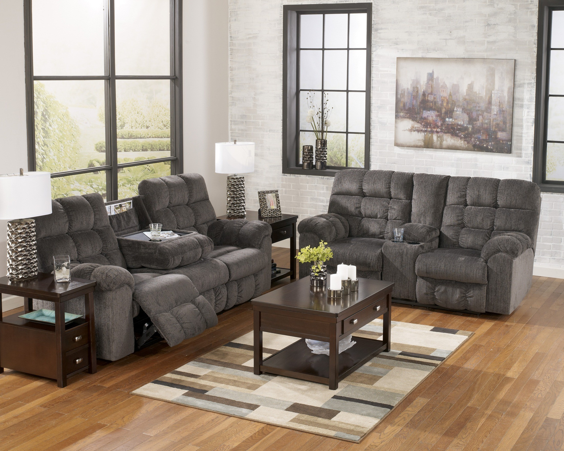 Acieona Slate Living Room Set From Ashley 58300