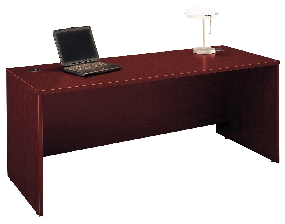 Series C Mahogany 72 Inch Desk Shell From Bush Wc36736