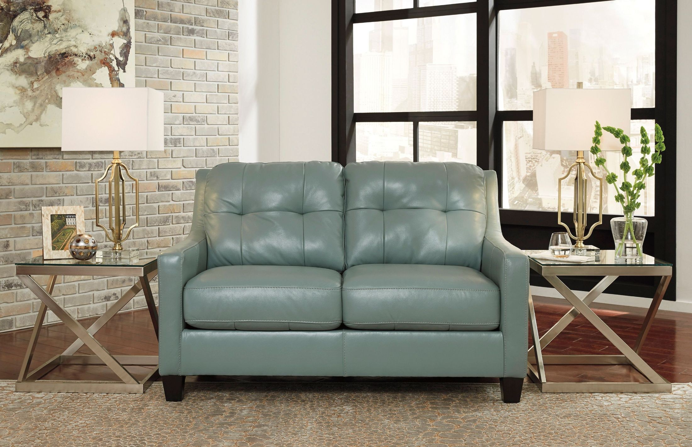 O Kean Sky Loveseat From Ashley Coleman Furniture