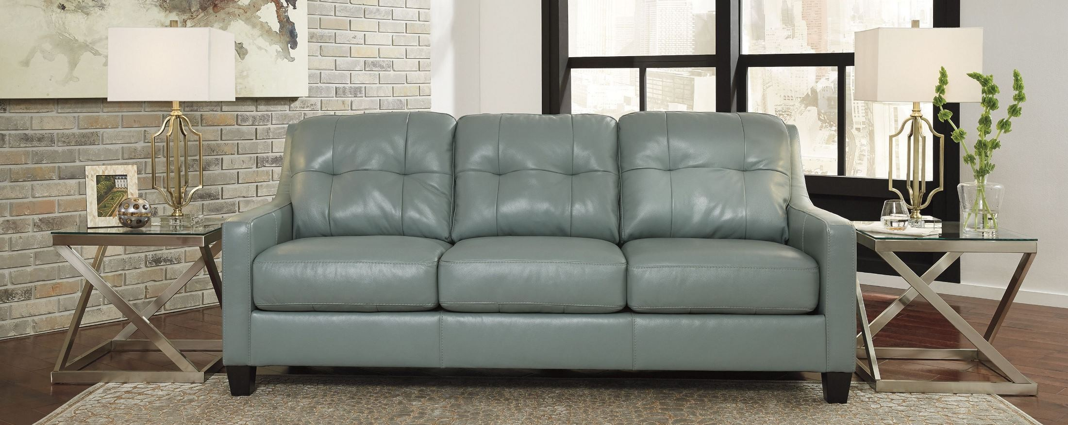 O Kean Sky Queen Sofa Sleeper From Ashley Coleman Furniture ~ Queen Sofa Sleeper Leather