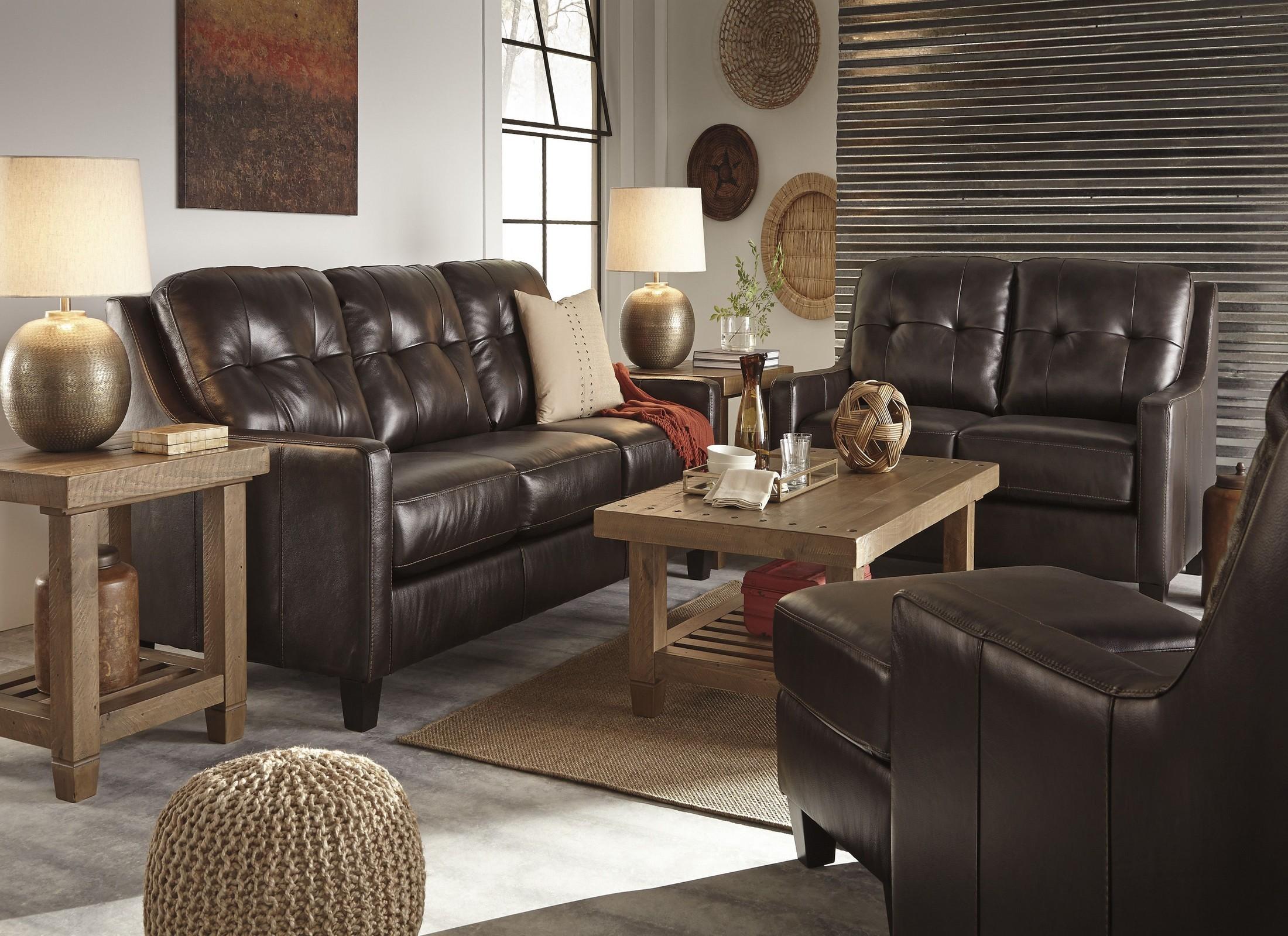 O 39 Kean Mahogany Living Room Set From Ashley Coleman