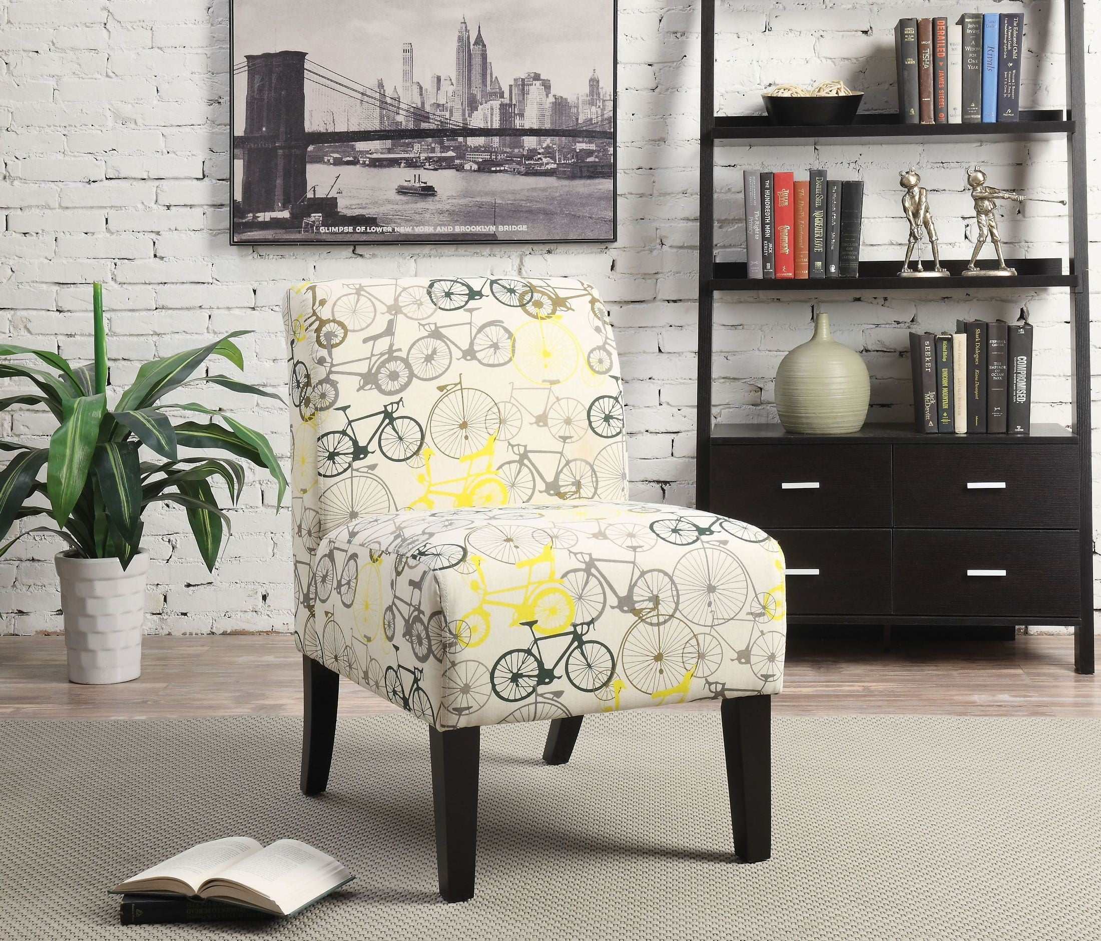 Ollano Bike Pattern Accent Chair from Acme | Coleman Furniture