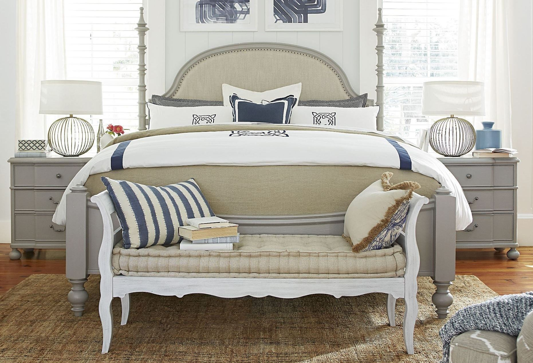 Dogwood cobblestone poster bedroom set from paula deen - Paula deen bedroom furniture collection ...