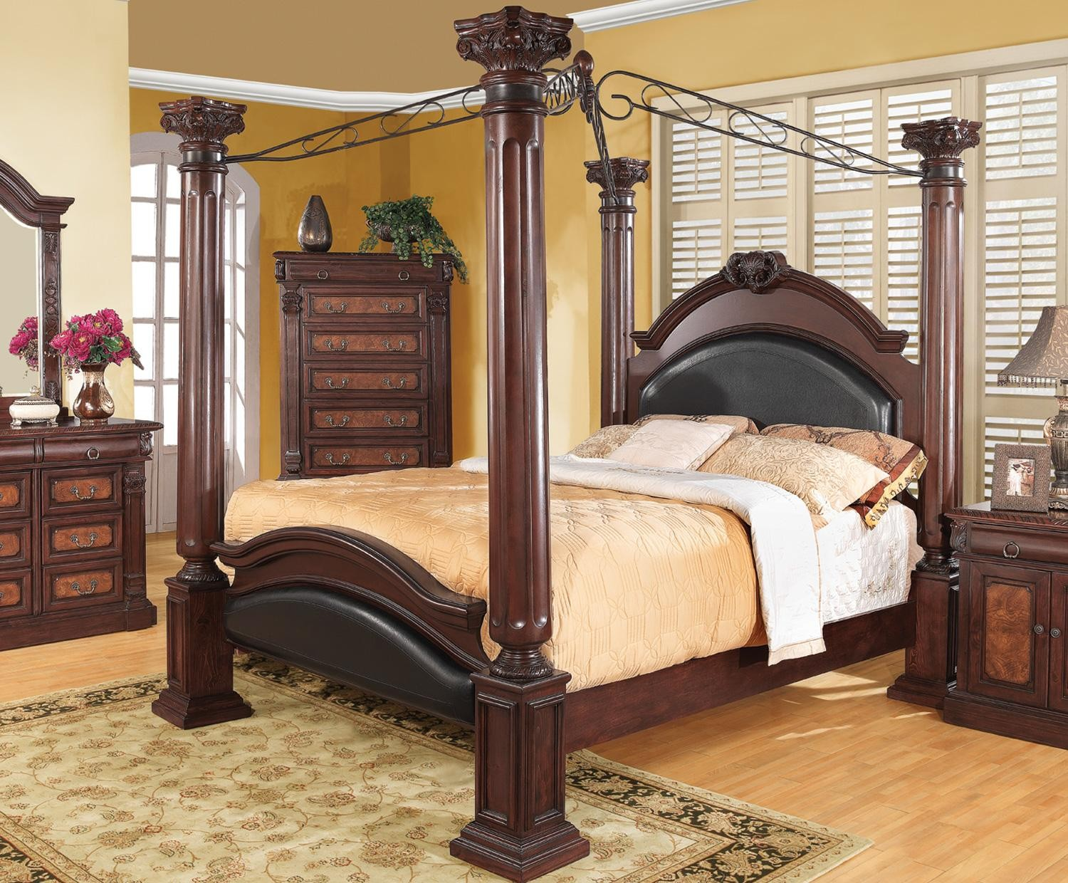 Grand Prado King Poster Bed from Coaster  202201KE    Coleman   Coaster Furniture  414081. Coaster Bedroom Furniture. Home Design Ideas