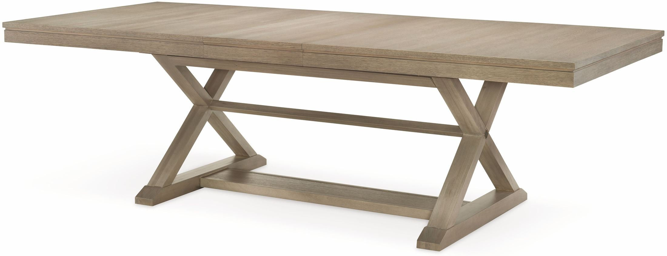 high line greige extendable trestle dining table from rachael ray home coleman furniture. Black Bedroom Furniture Sets. Home Design Ideas