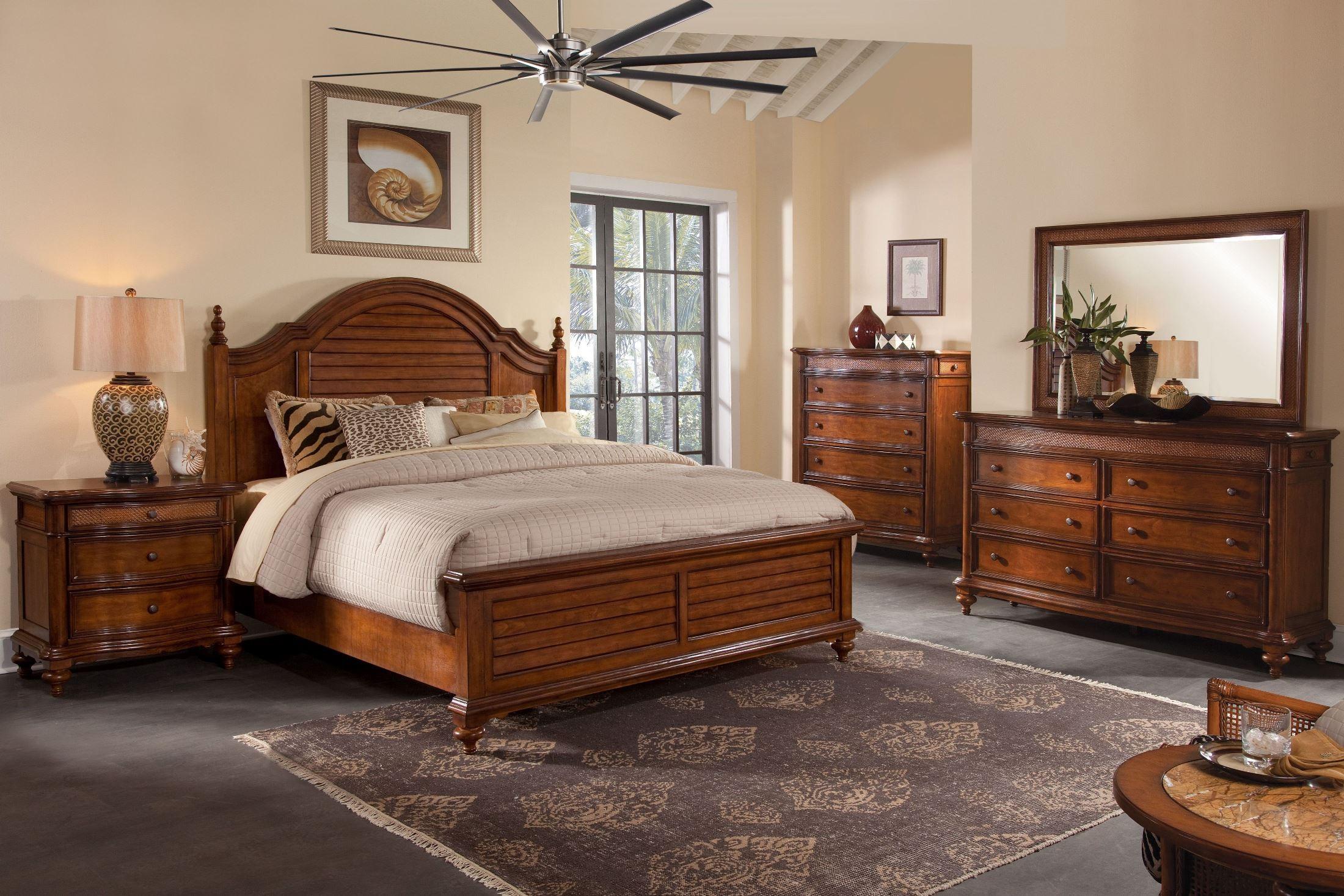 Hudson Bay Golden Brown Mansion Bedroom Set From American Woodcrafters Coleman Furniture