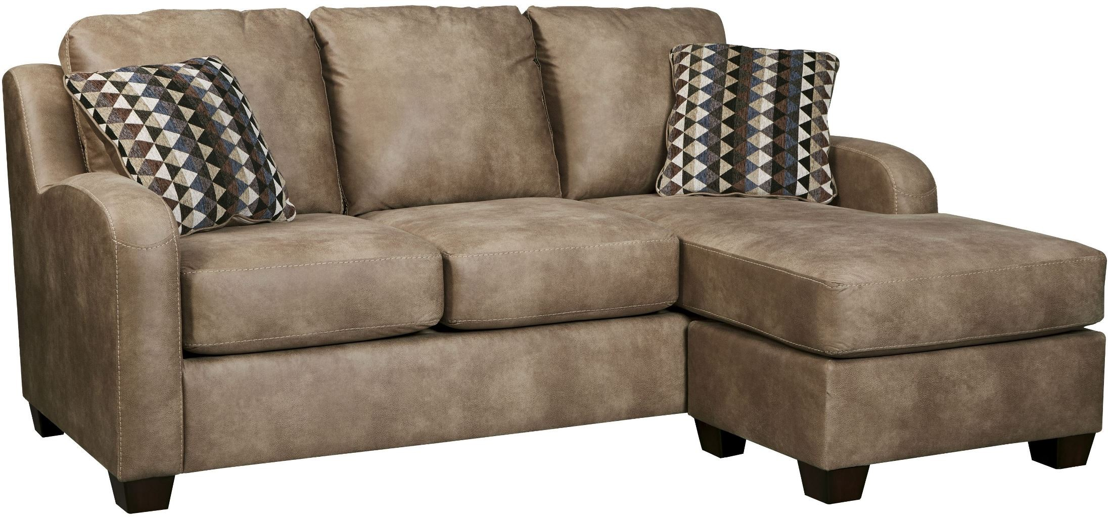 Alturo dune sofa chaise from ashley 6000318 coleman for Ashley circa taupe sofa chaise