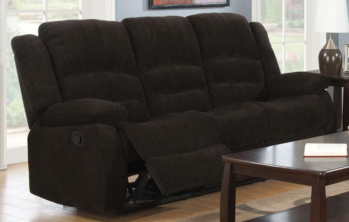 Gordon Dark Brown Reclining Sofa From Coaster 601461