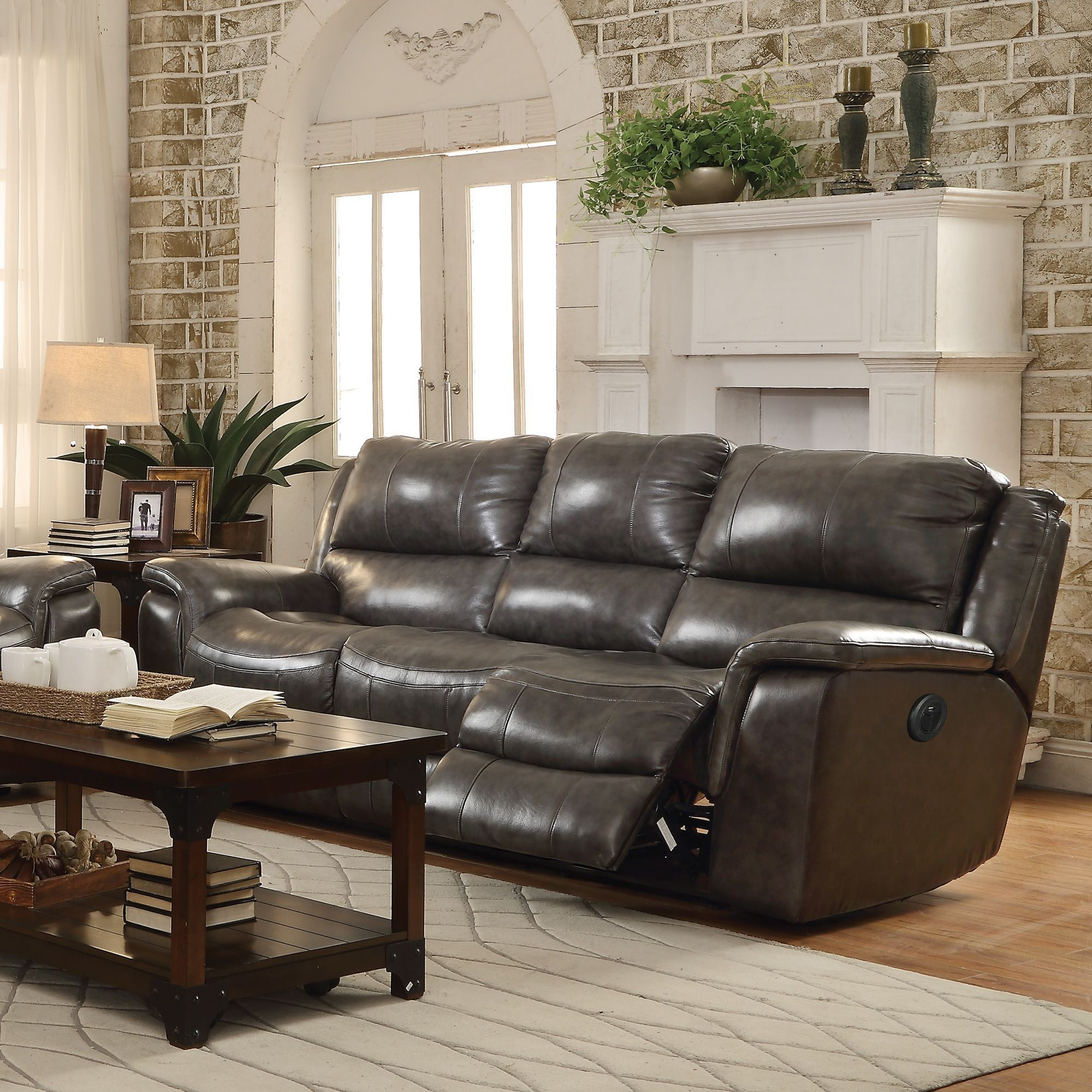Wingfield Charcoal Power Reclining Sofa from Coaster P