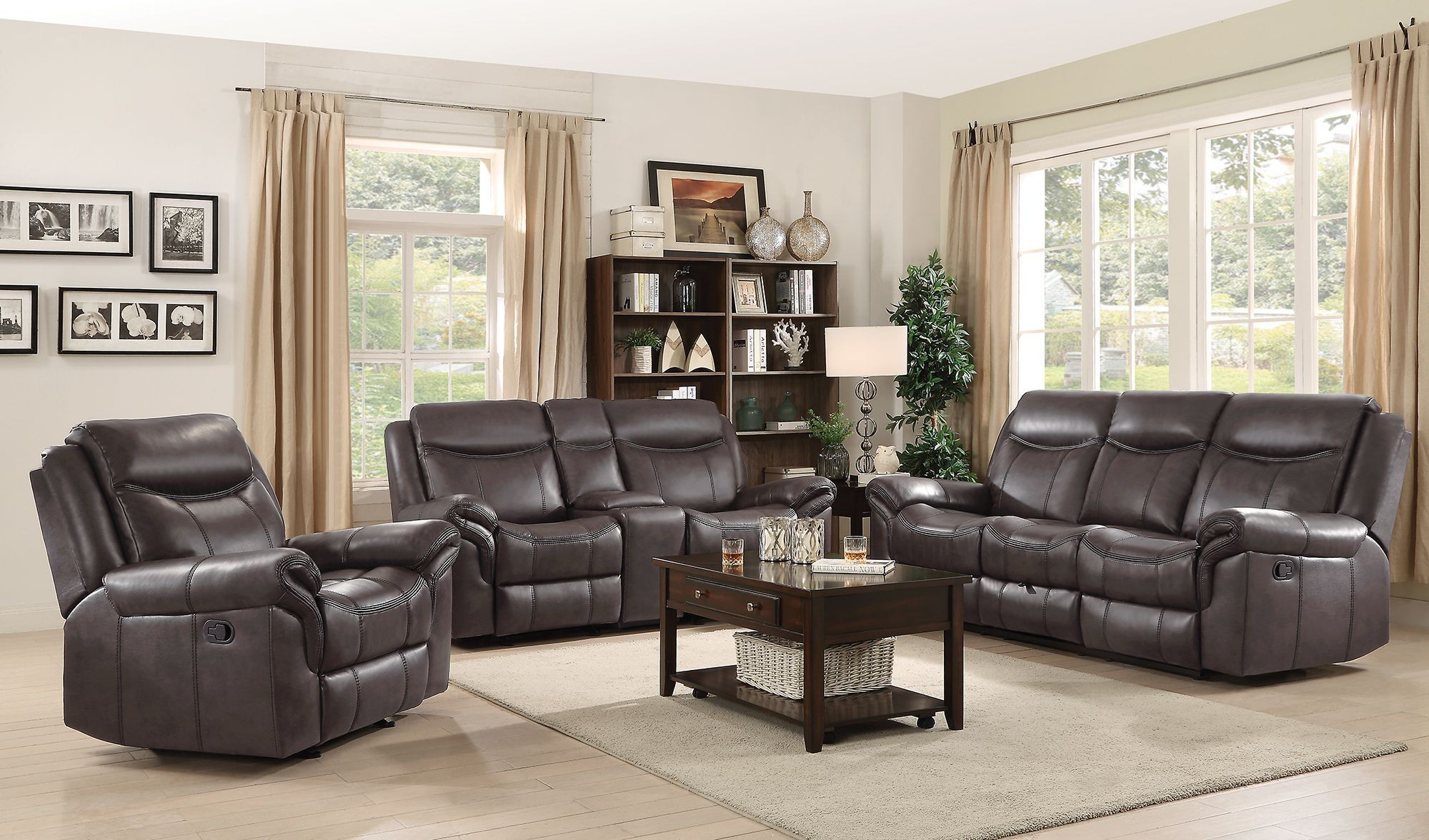 sawyer brown motion living room set from coaster coleman furniture