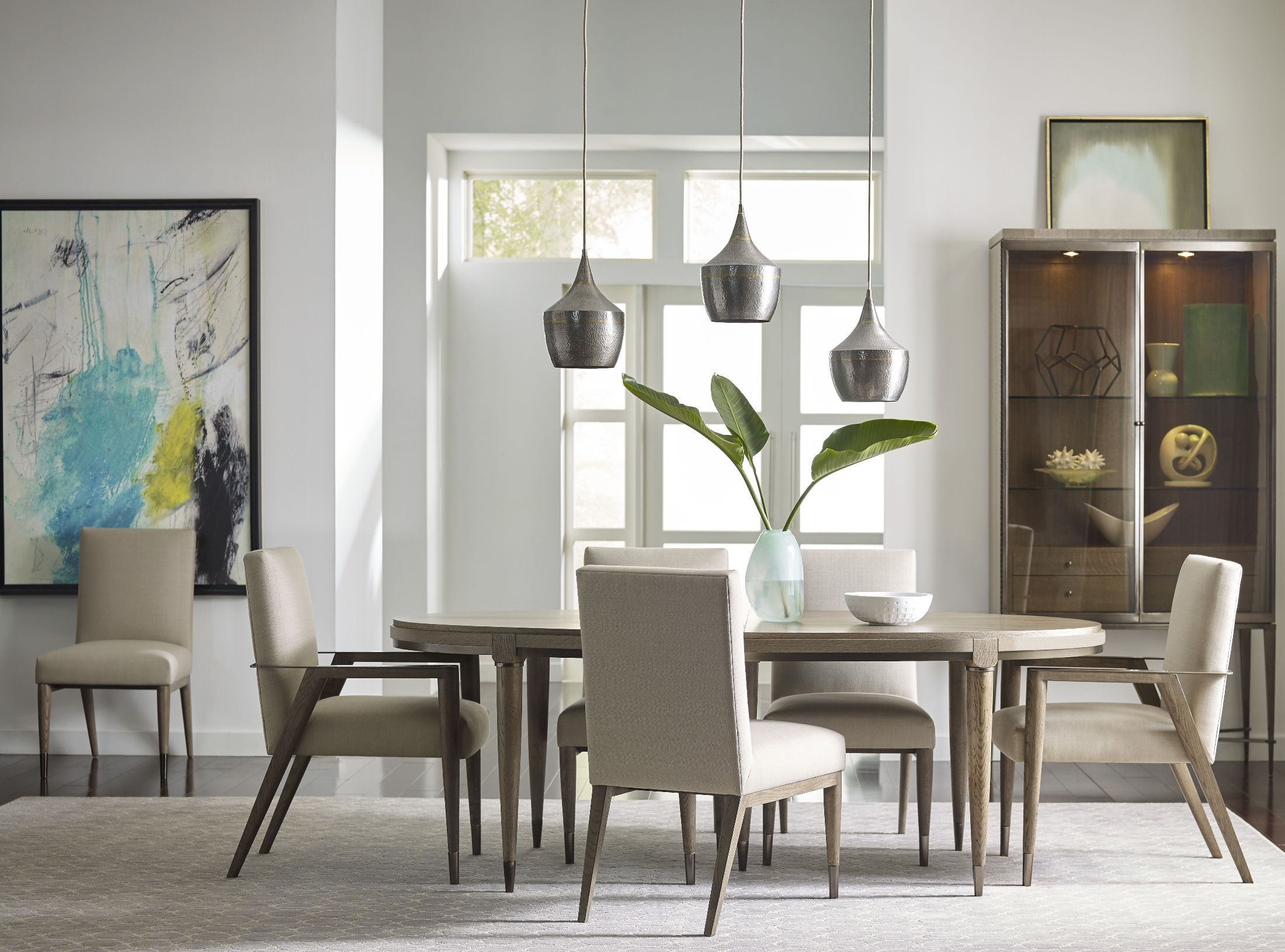 Ad modern classics dark oak espresso stain lloyd for Modern oak dining room sets