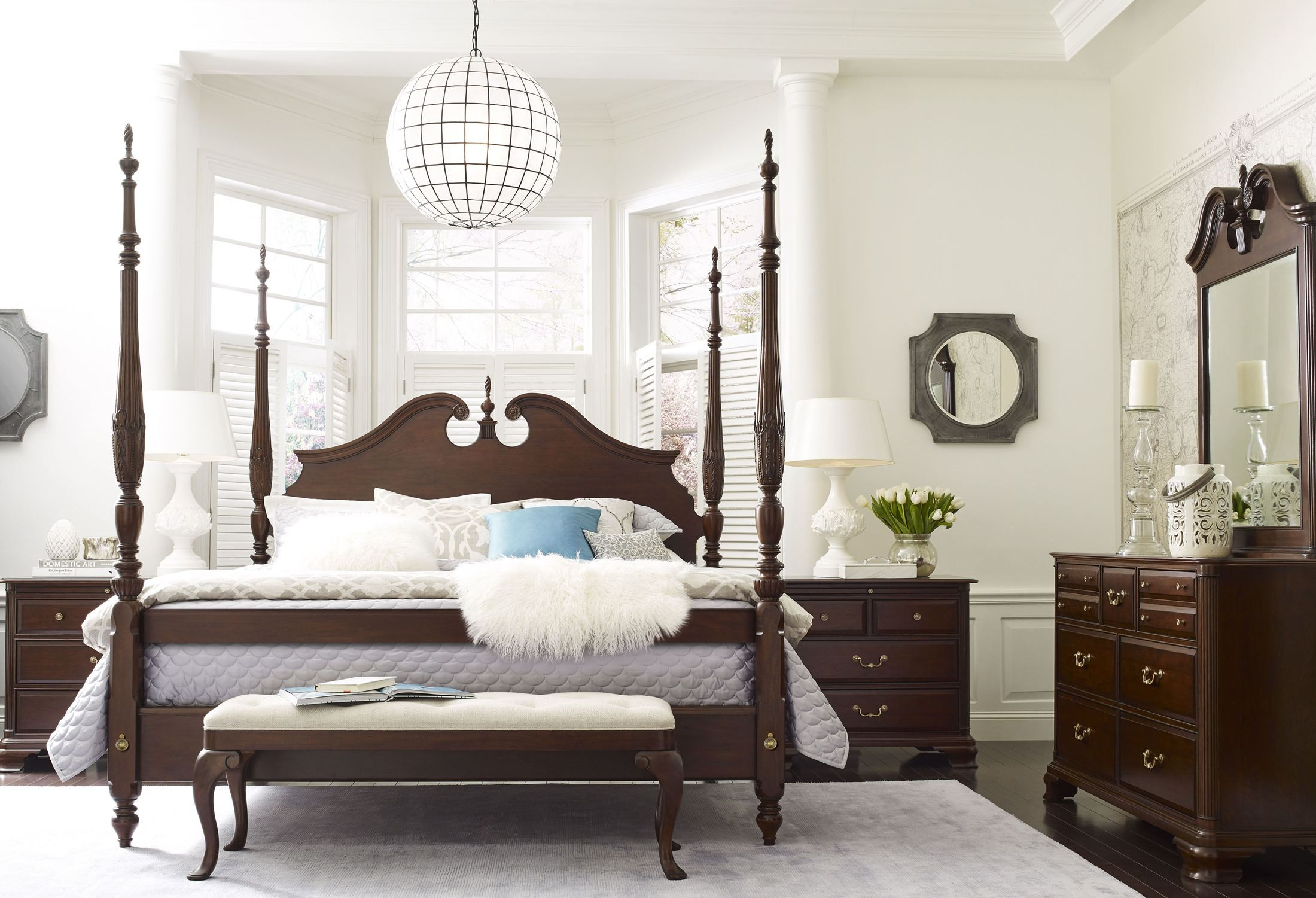 Hadleigh Rice Carved King Poster Bed from Kincaid Furniture ...