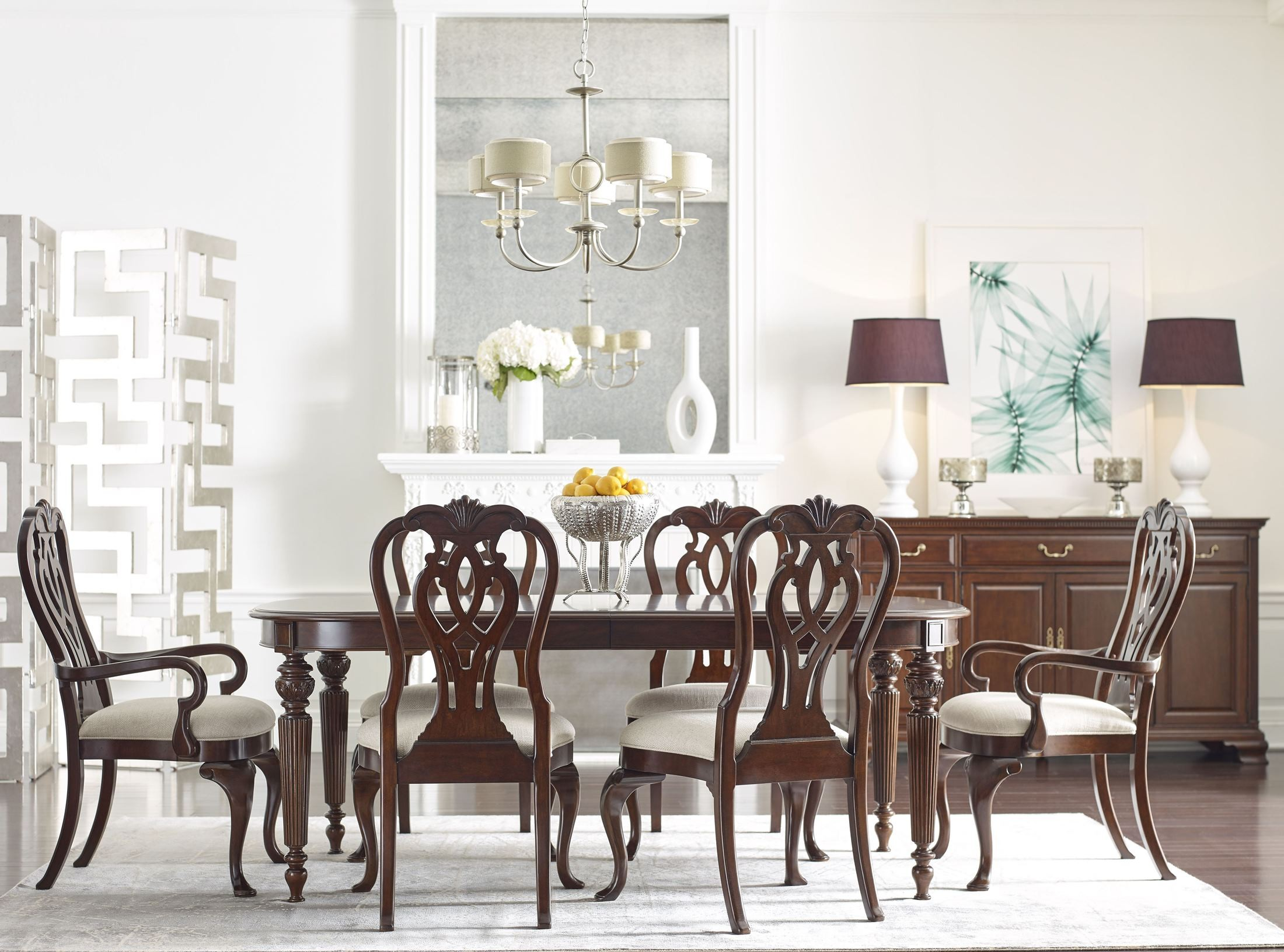 Hadleigh Oval Dining Room Set From Kincaid Furniture Coleman Furniture