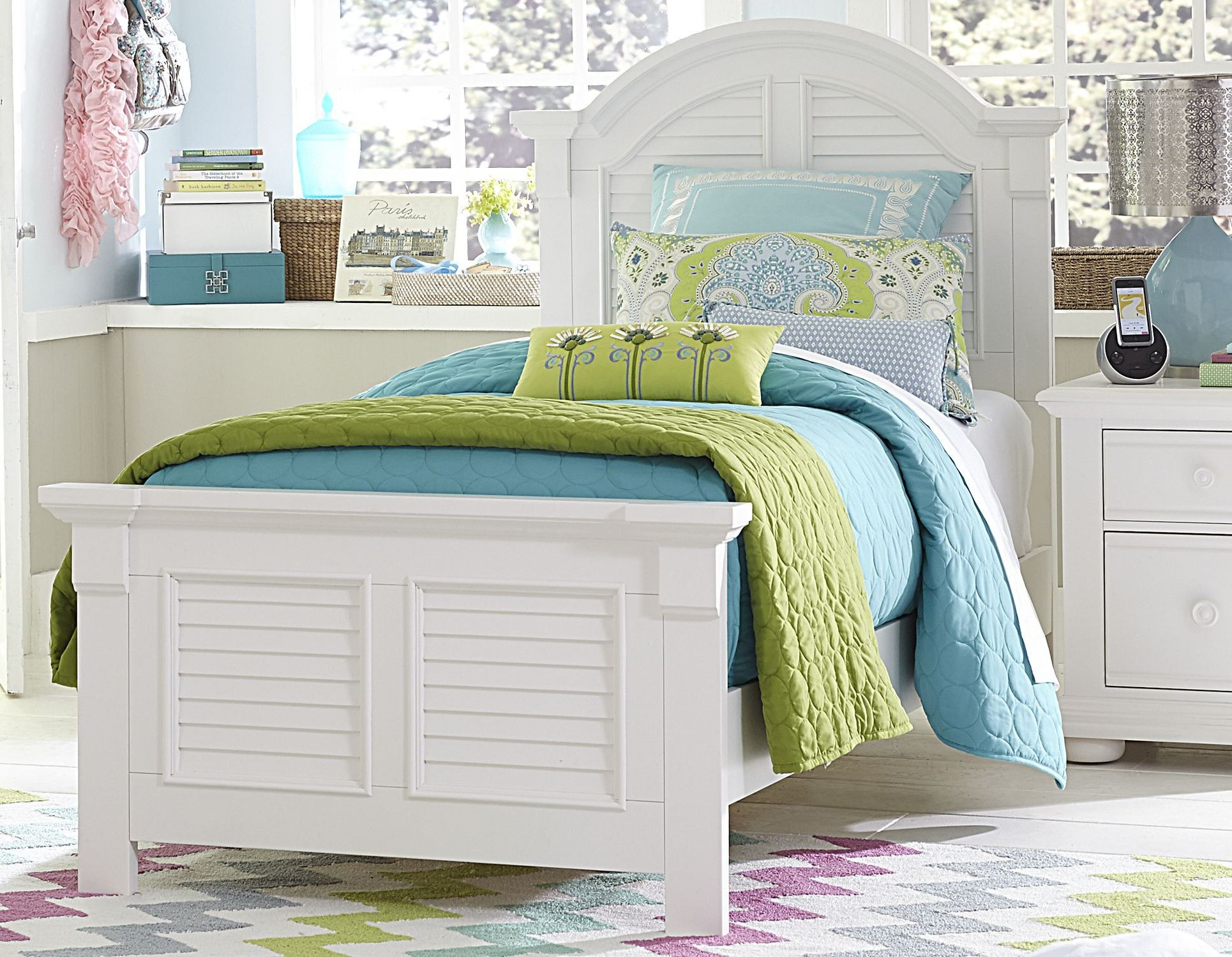 Summer House Oyster White Youth Panel Bedroom Set From Liberty Coleman Furniture