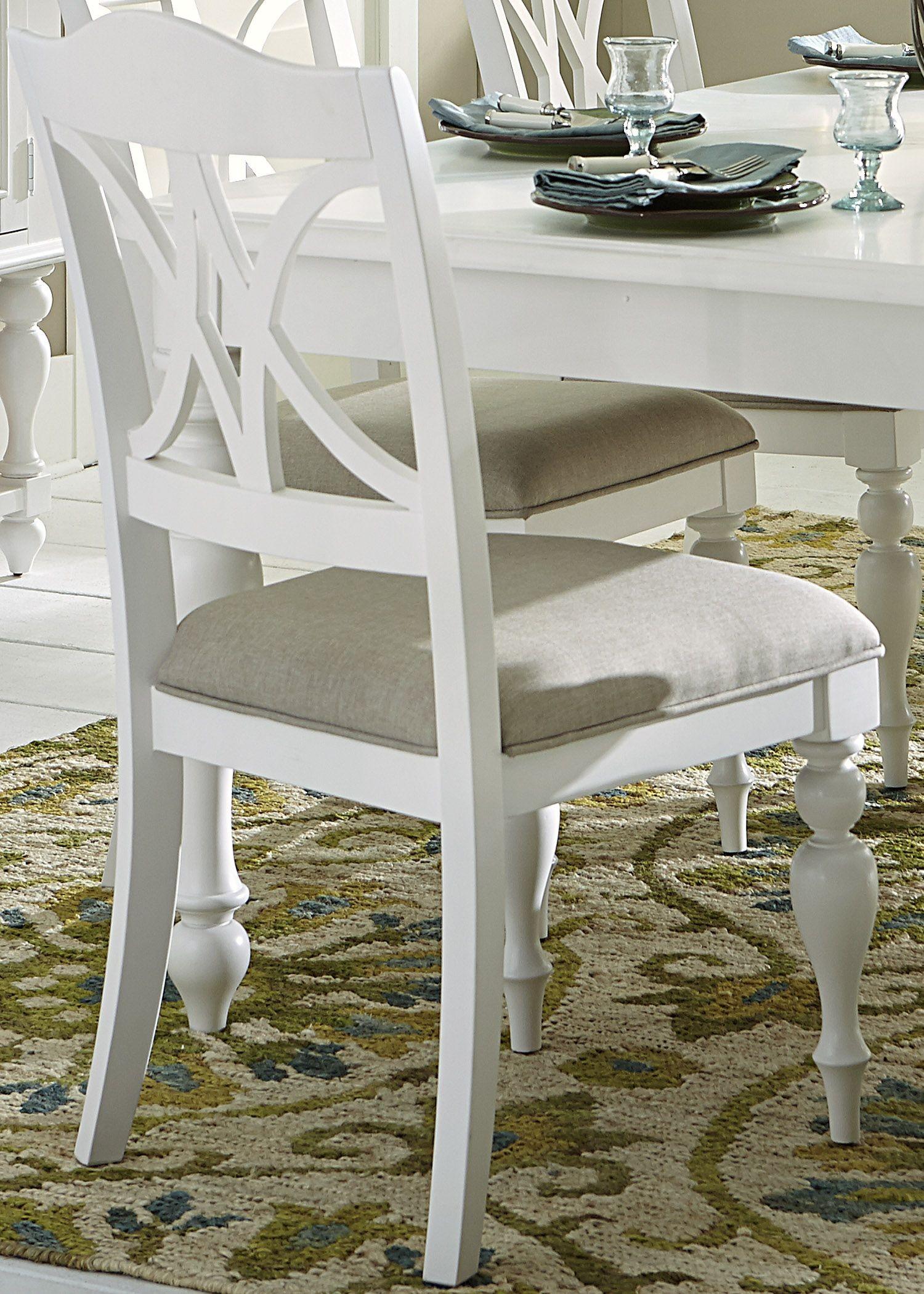 Summer House Oyster White Antique White Round Pedestal