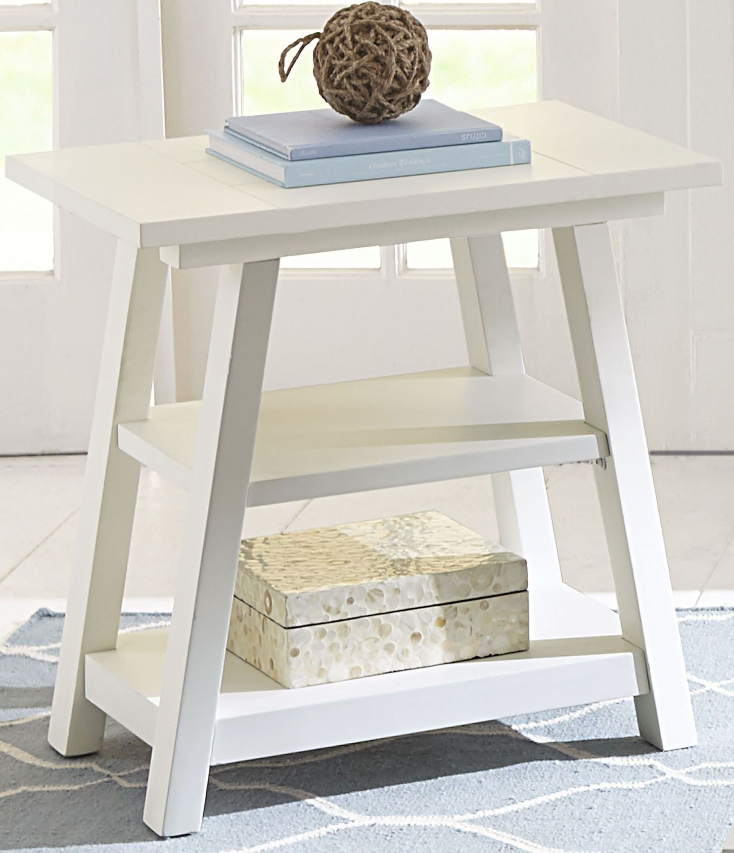 Summer House Oyster White Chair Side Table From Liberty