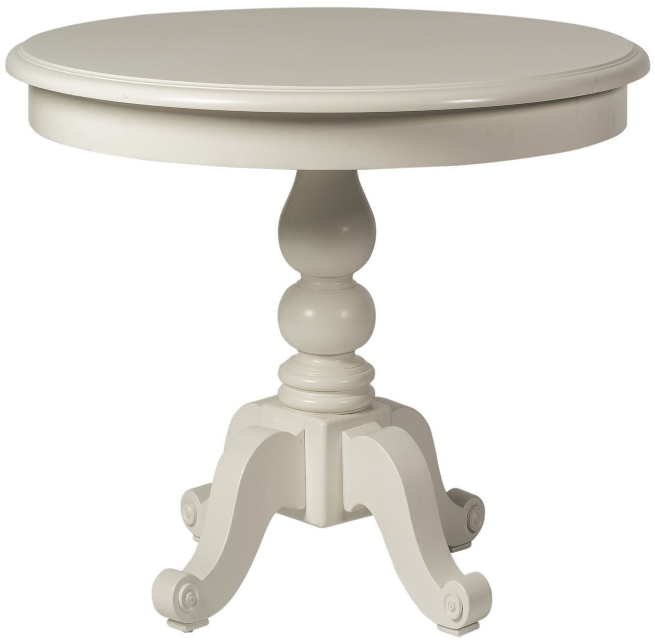 Summer House Oyster White Oyster White Round Pedestal Dining Table
