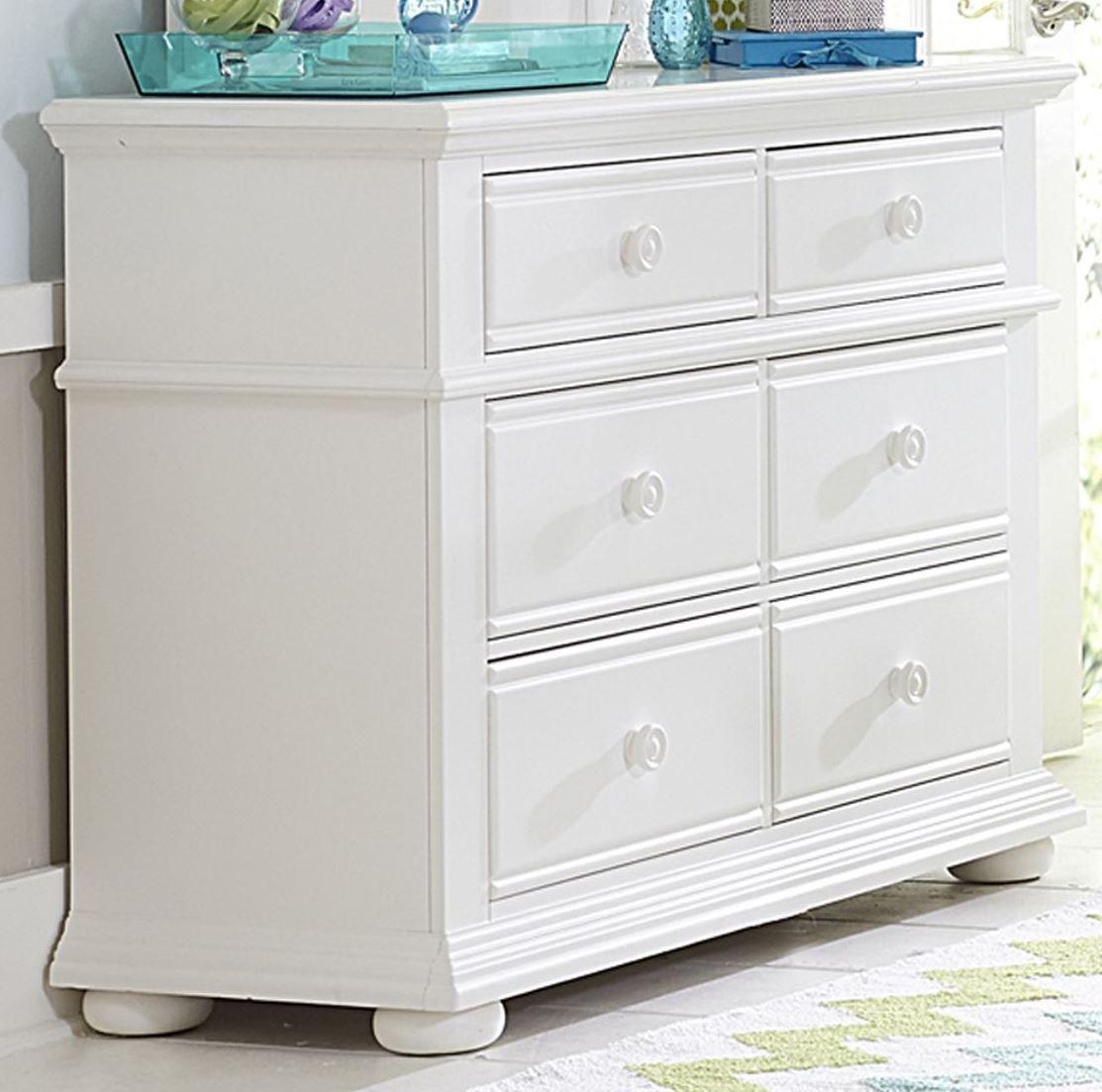 summer house oyster white 6 drawer dresser from liberty coleman furniture. Black Bedroom Furniture Sets. Home Design Ideas