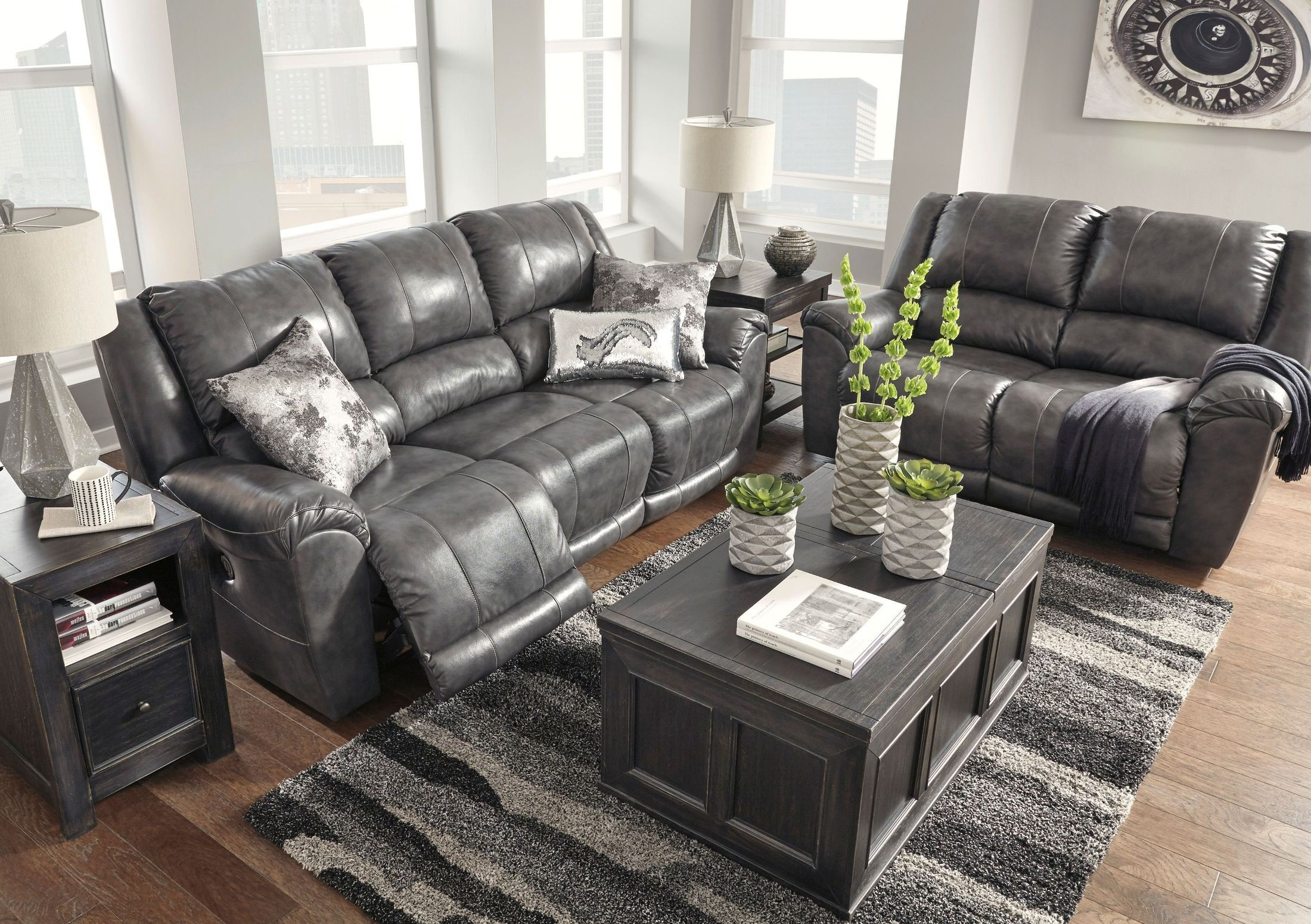 Persiphone Charcoal Reclining Living Room Set From Ashley Coleman Furniture