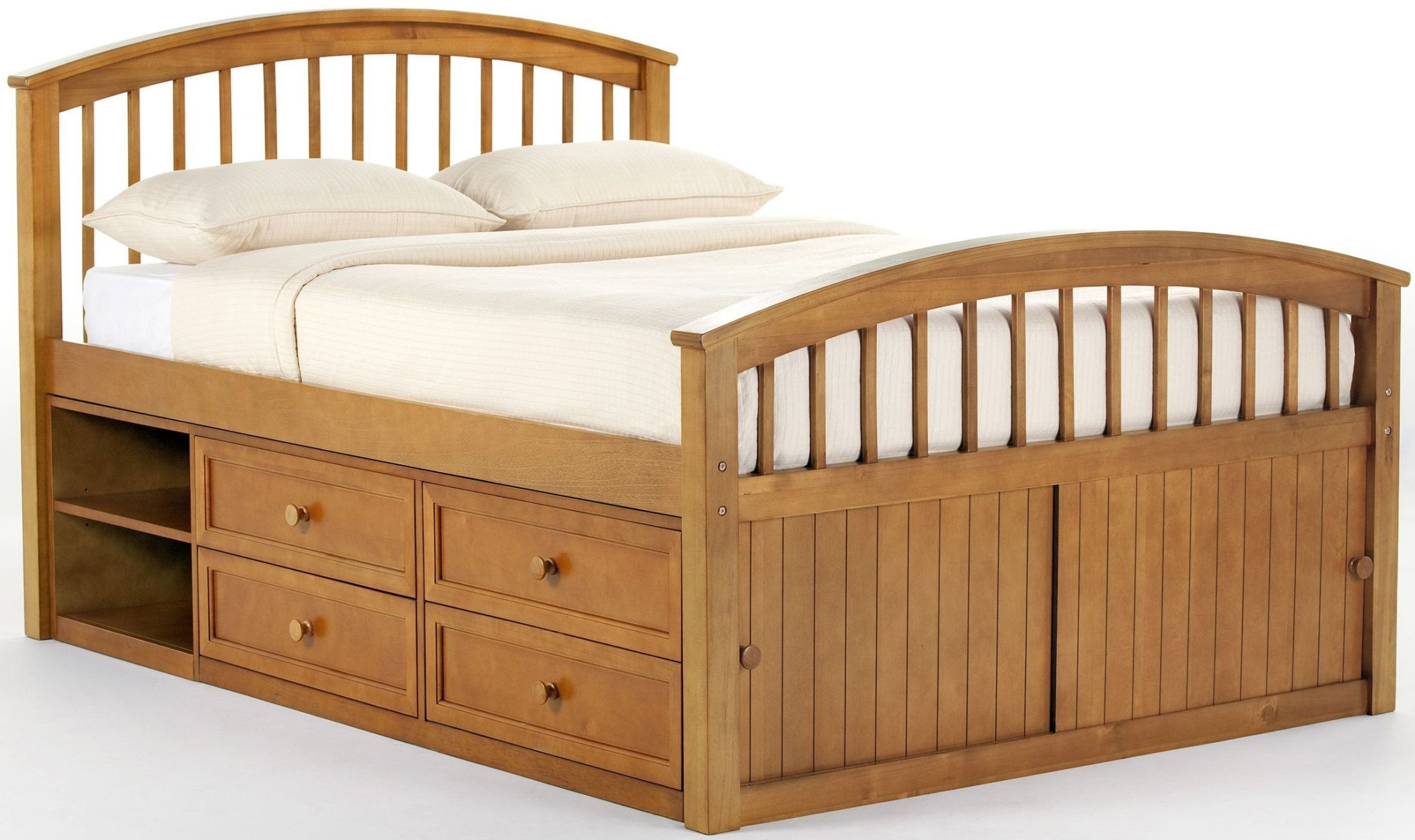 School House Pecan Captain Full Panel Bed From Ne Kids
