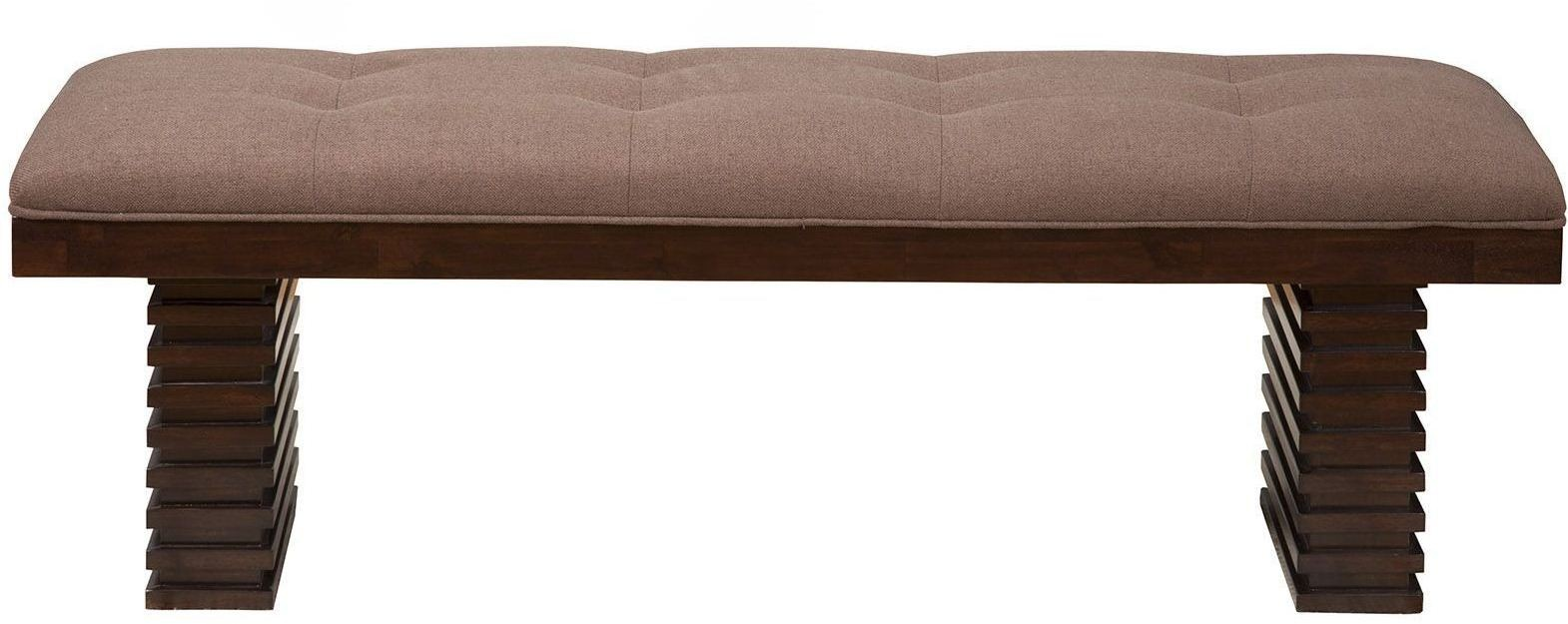 Trulinea Dark Espresso Upholstered Dining Bench From Alpine Coleman Furniture